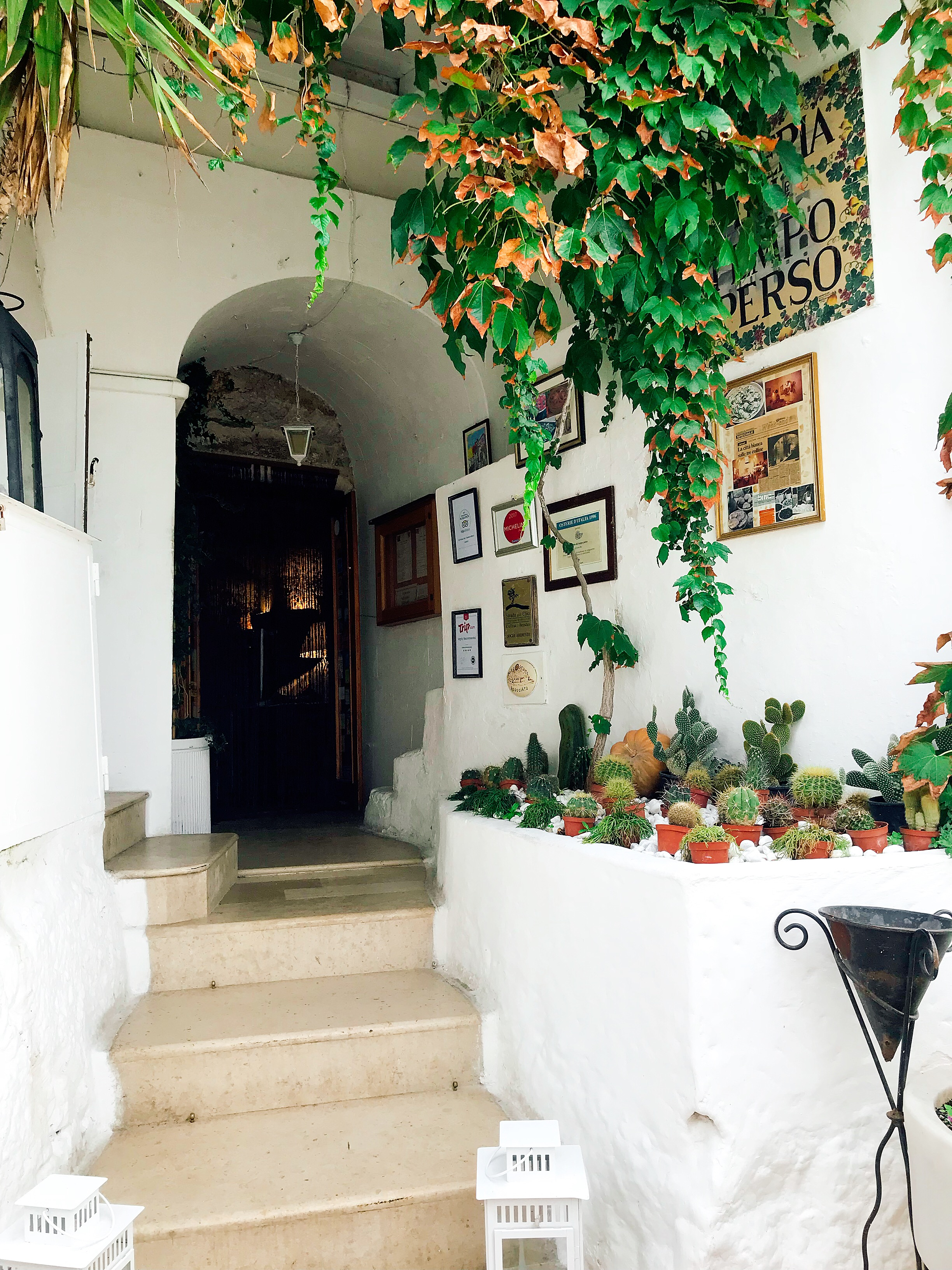 The Darling Entrance Of Osteria Del Tempo Perso