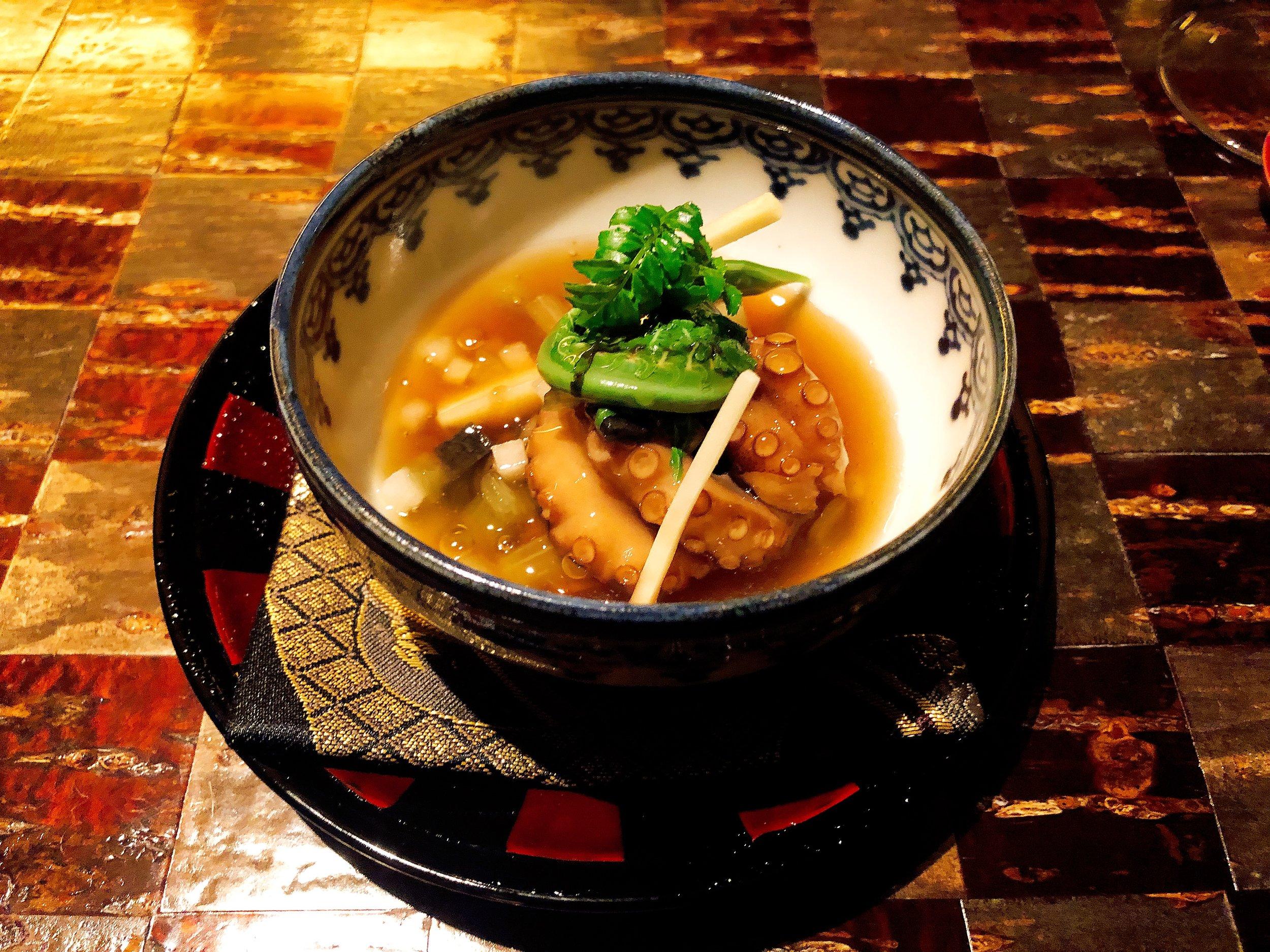 Iidako Octopus With Bamboo Shoots