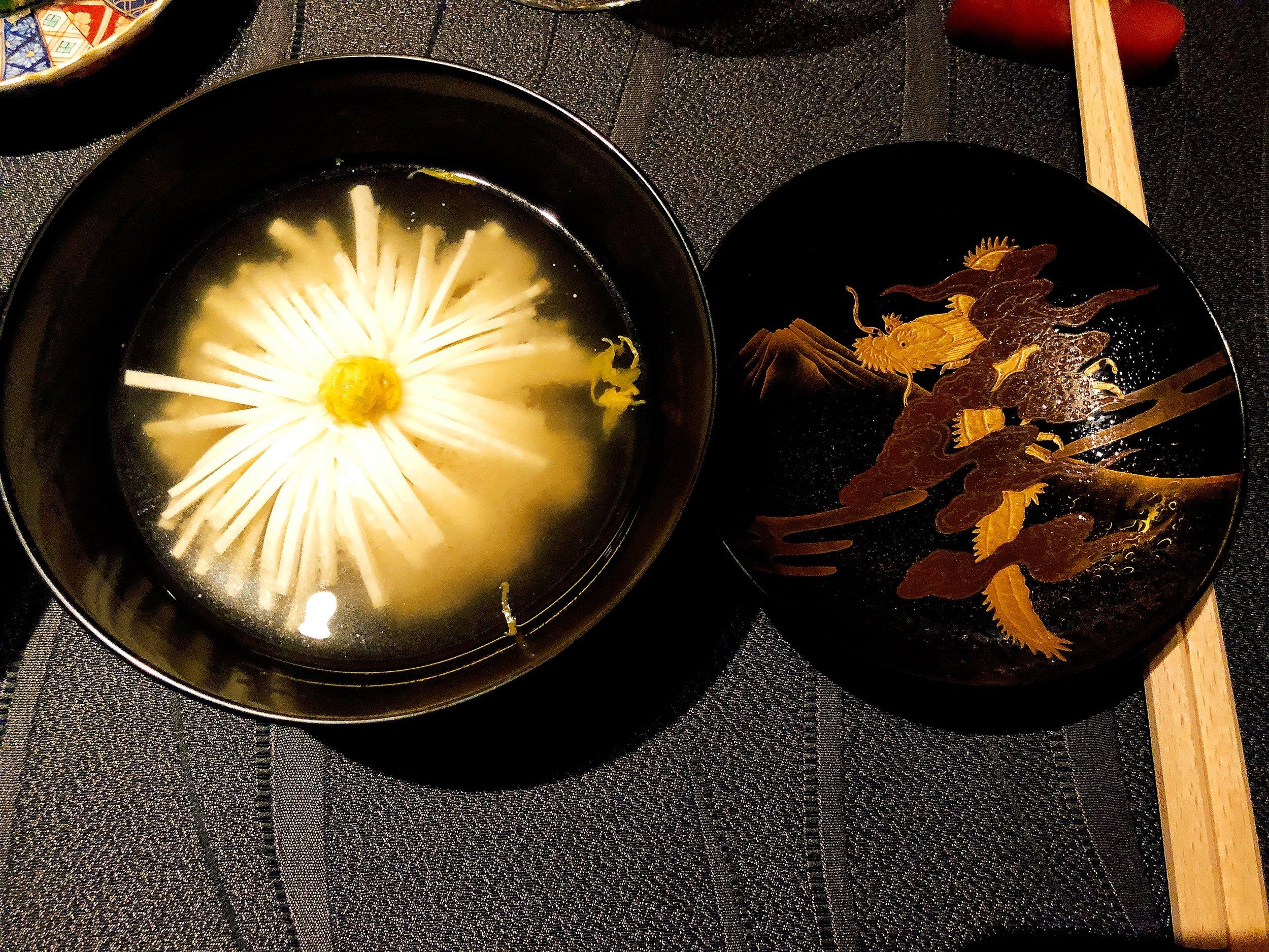 Japanese National Flower- Chrysanthemum Soup