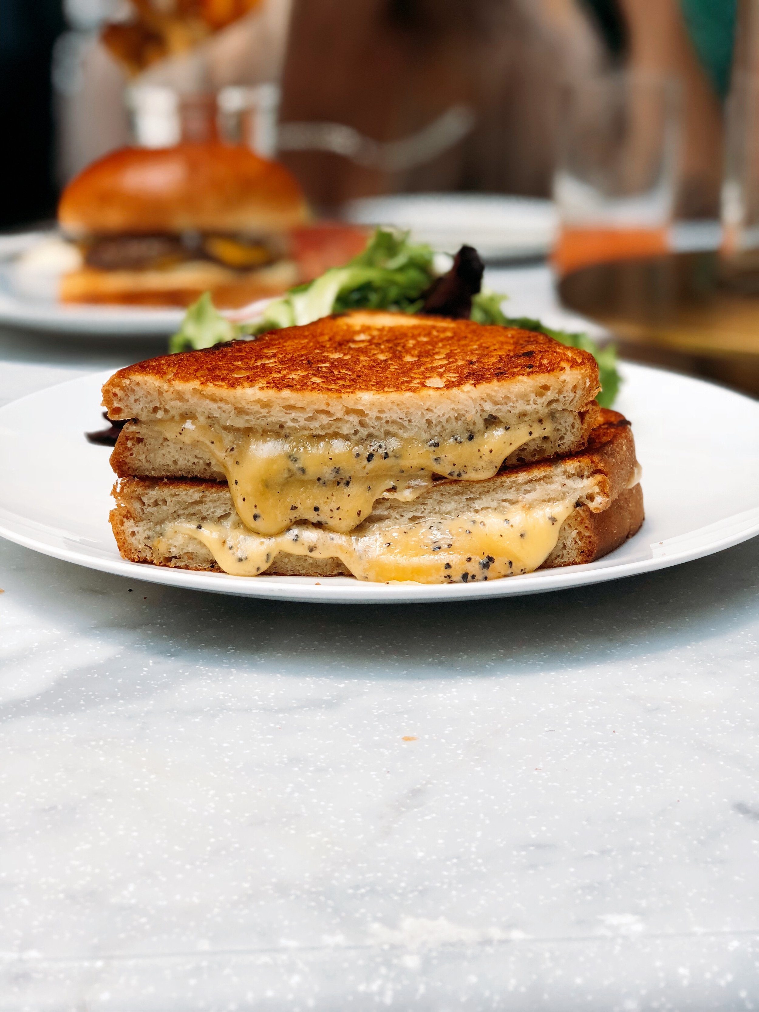 Truffled Grilled Cheese: Cheddar and Sourdough