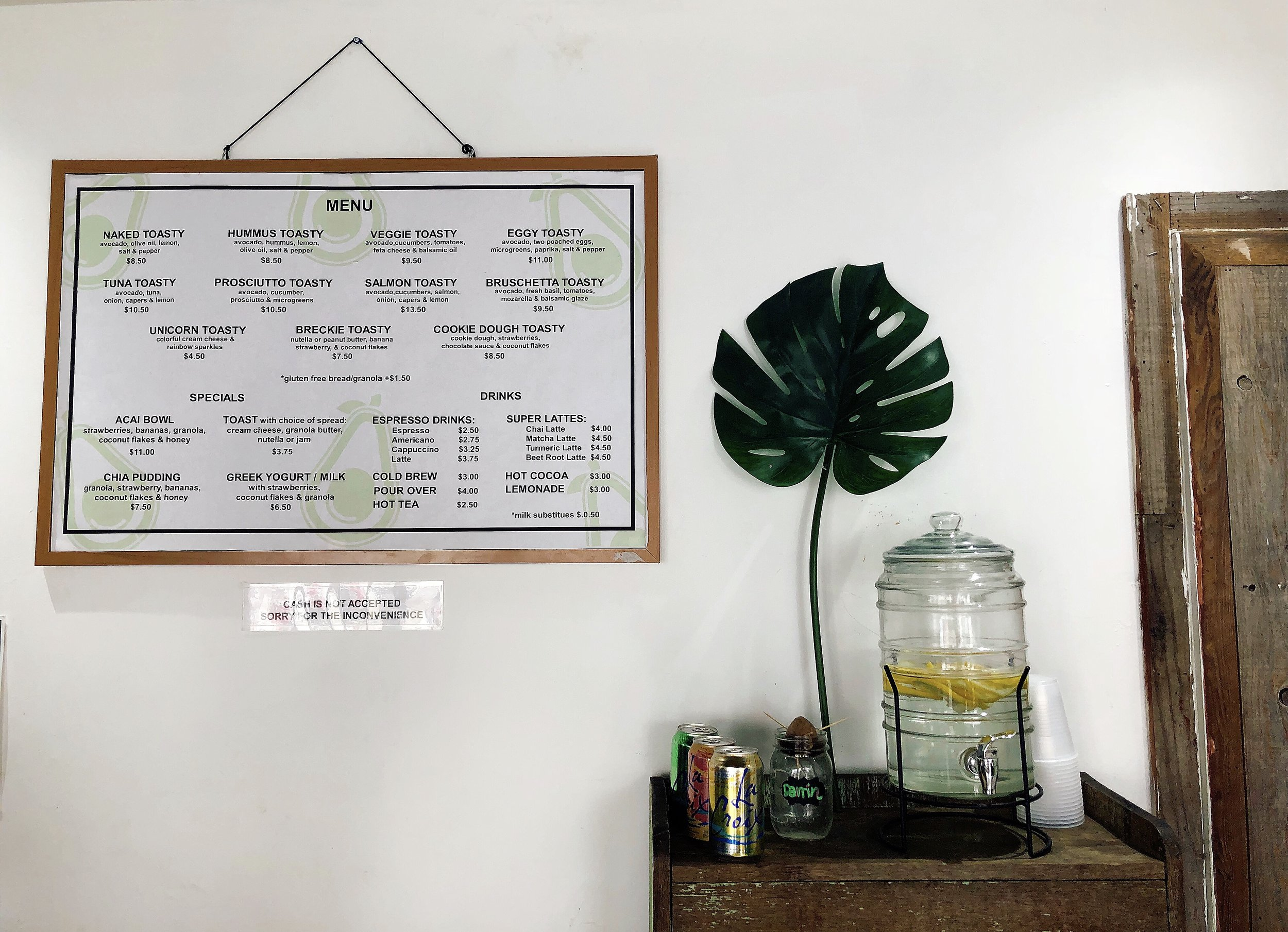Guests Can Peruse This Simple But Stunning Menu While Waiting To Order