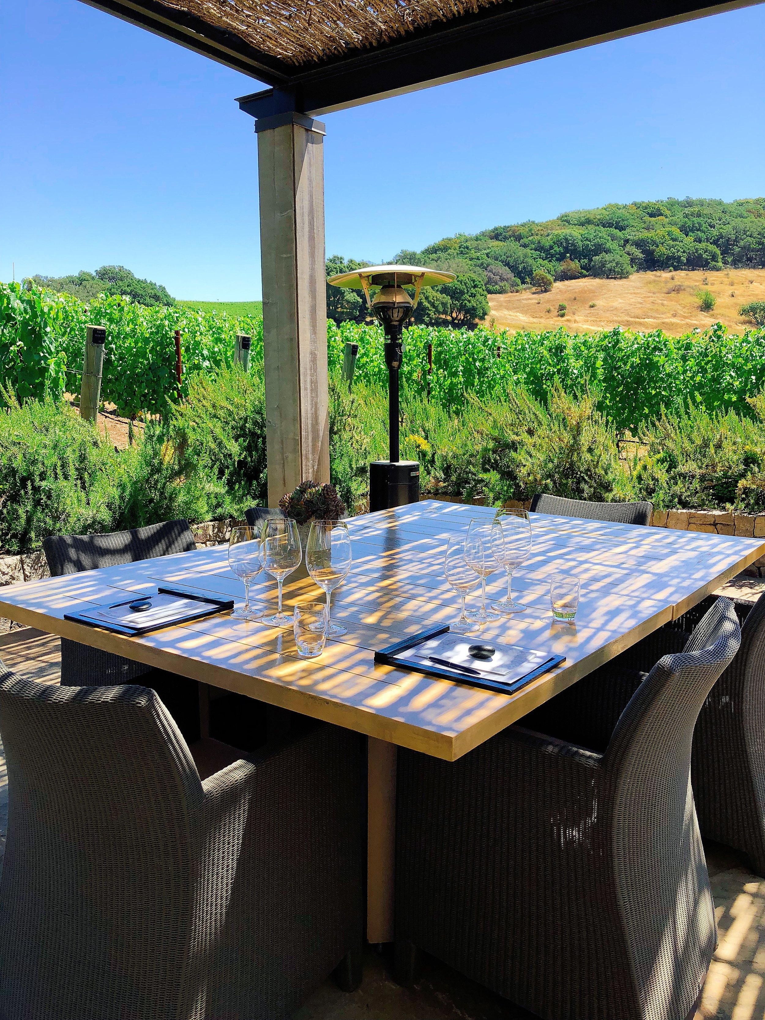 Enjoying The View Of The Vineyard At Kenzo Estate