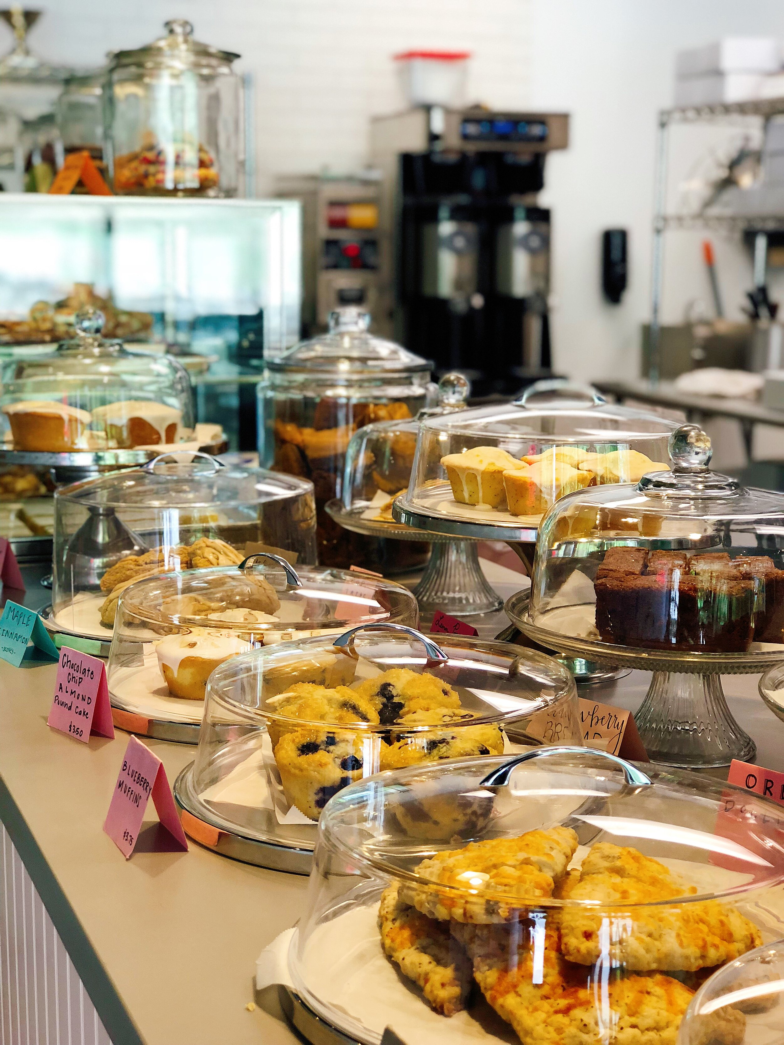 Assorted pastries, scones, breads and brownies