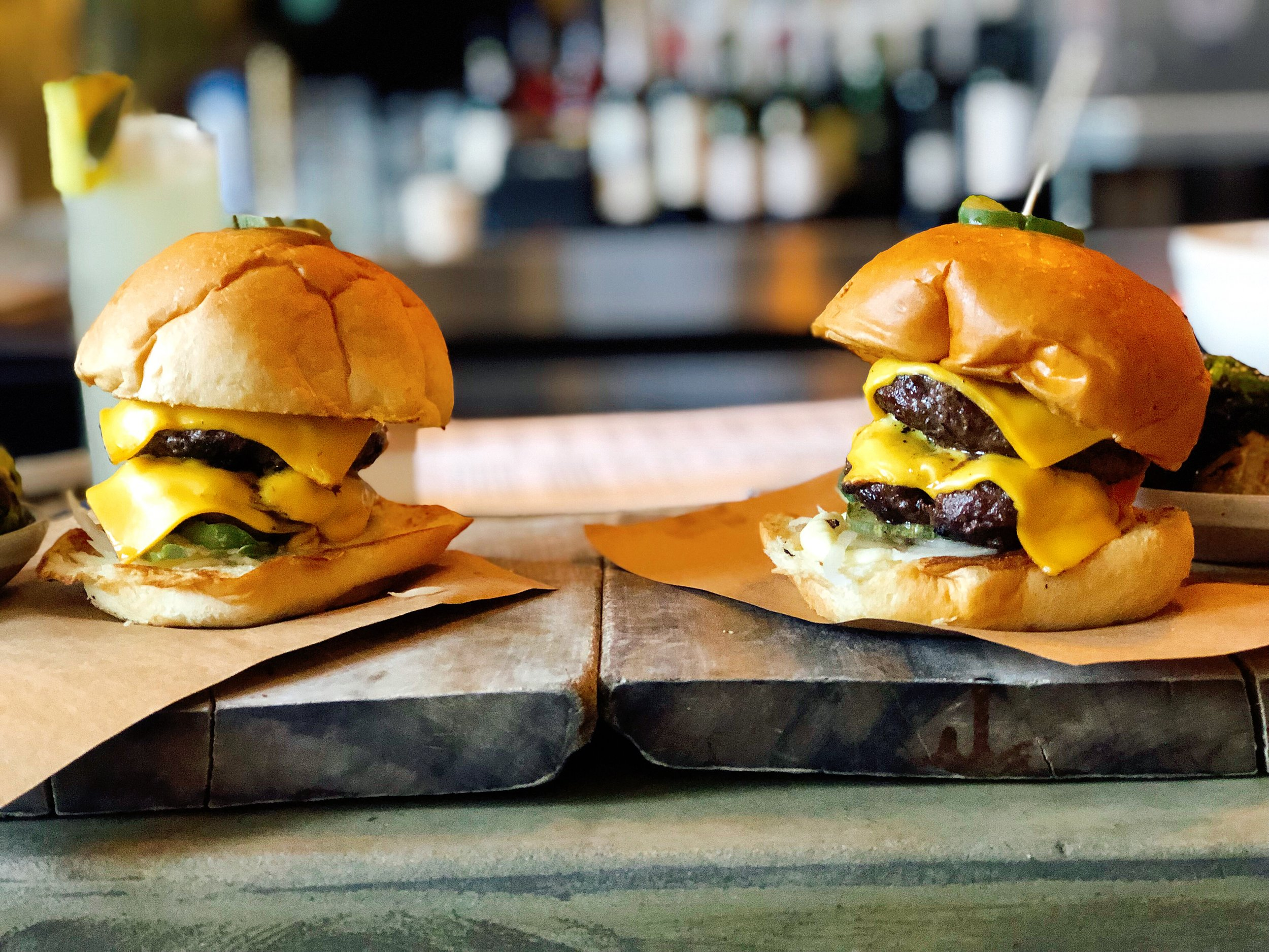 Double Brisket-Grind Burger | American Cheese + Pickles + Onion + Aioli
