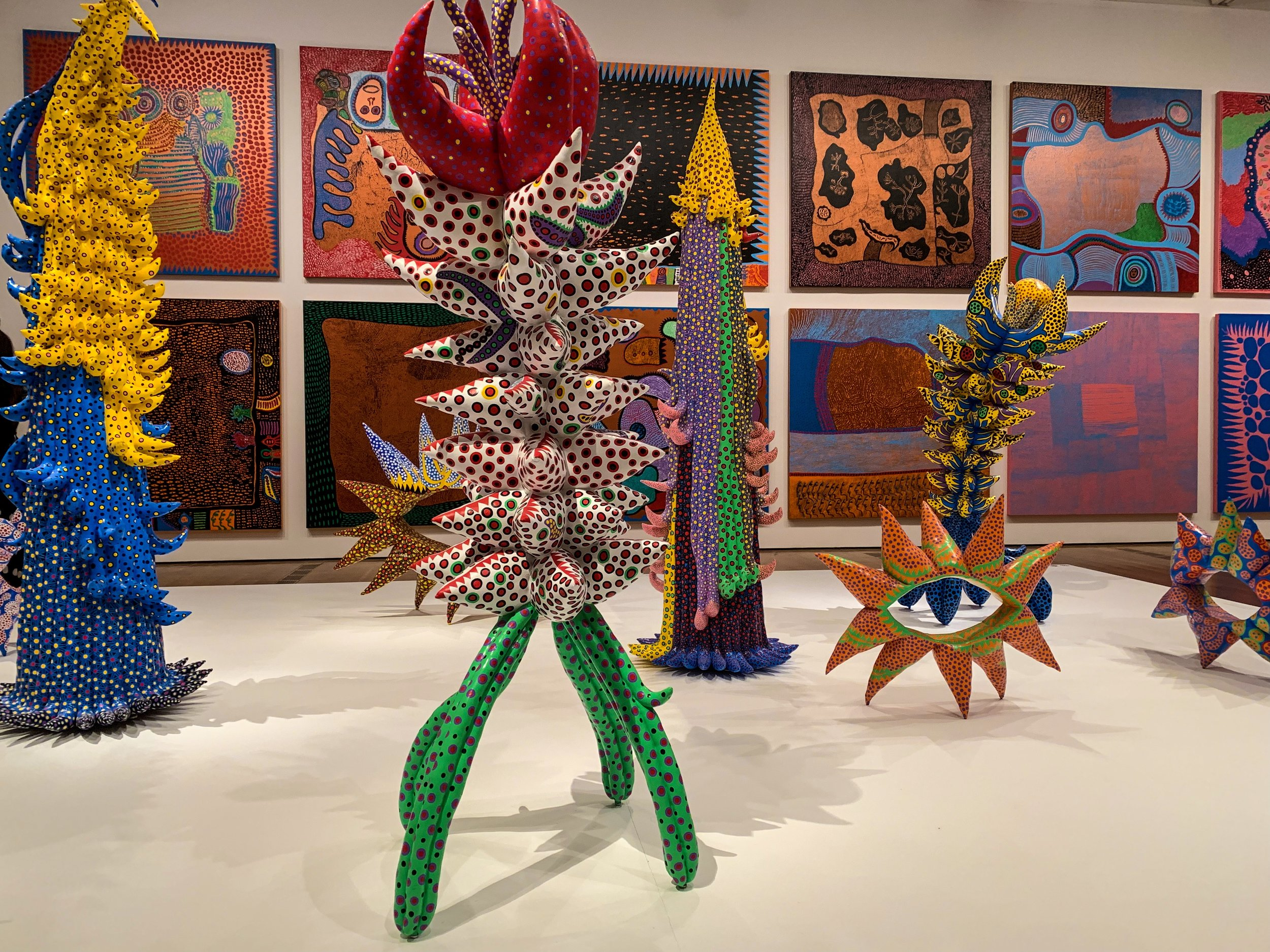 Guest Are Welcomed With A Collection Of Sculptures And Paintings By Yayoi Kusama