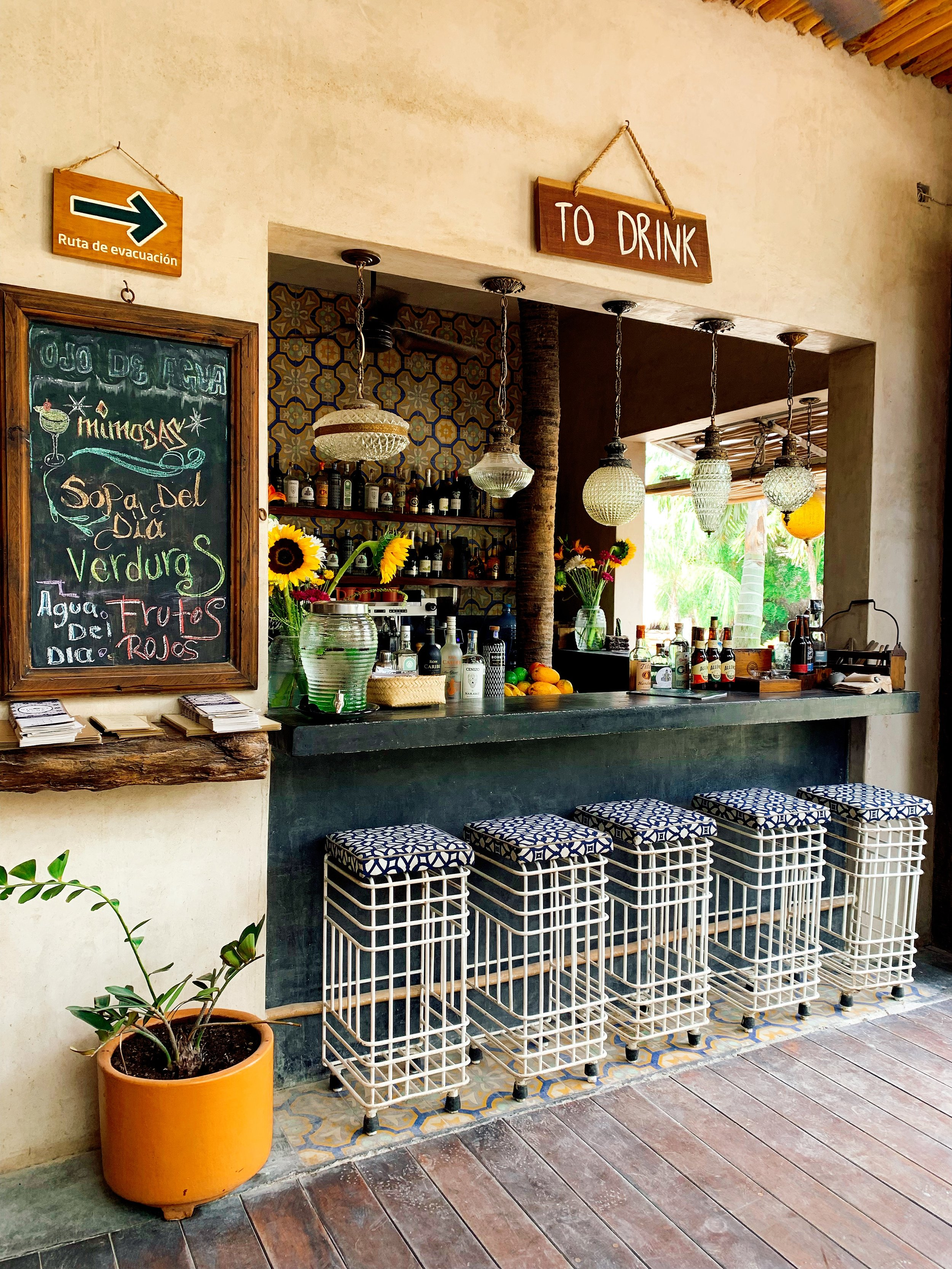 How Charming Is The Bar At Ojo De Agua?