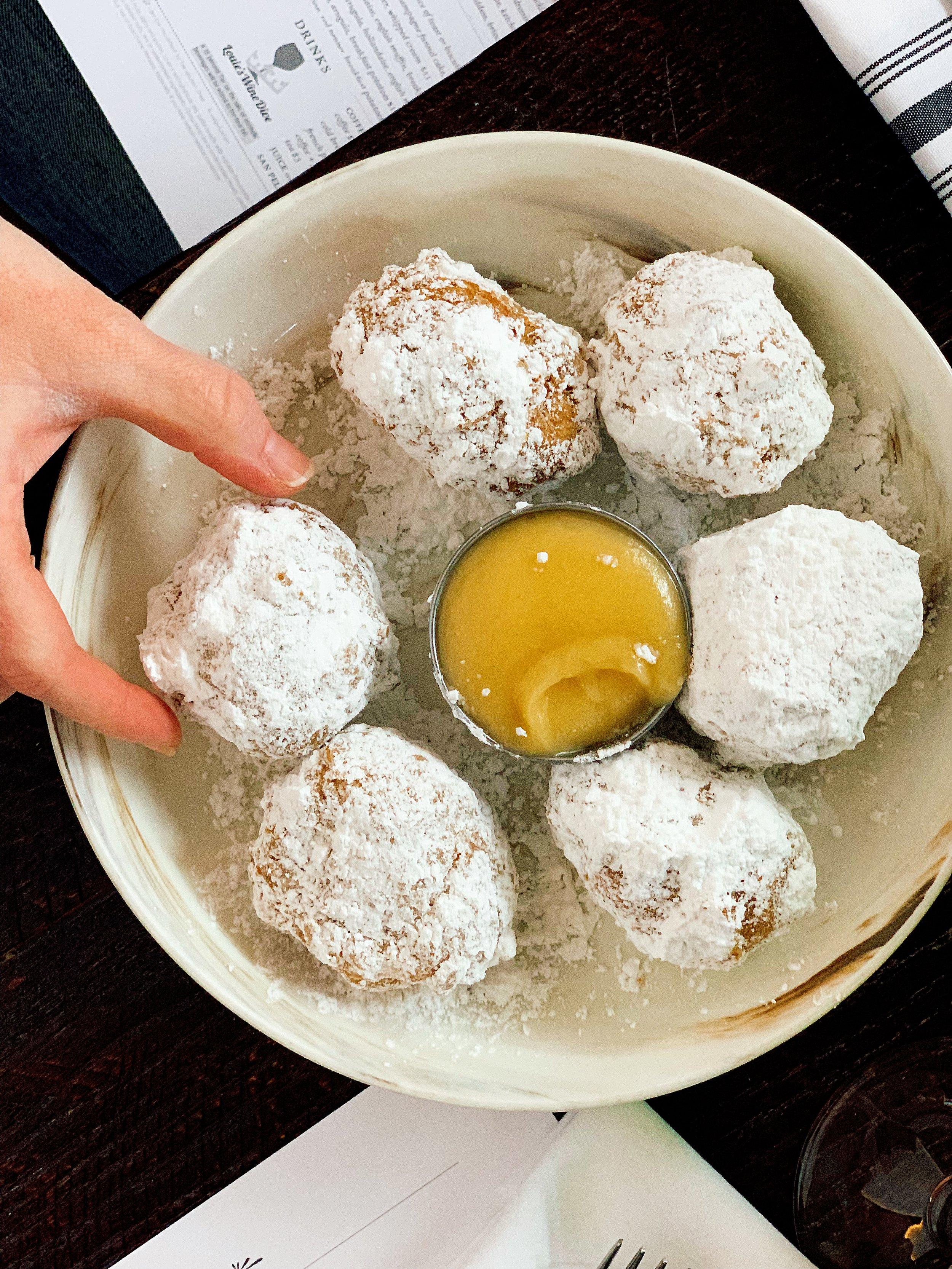 Beignets | Powdered Sugar + Rum Butter