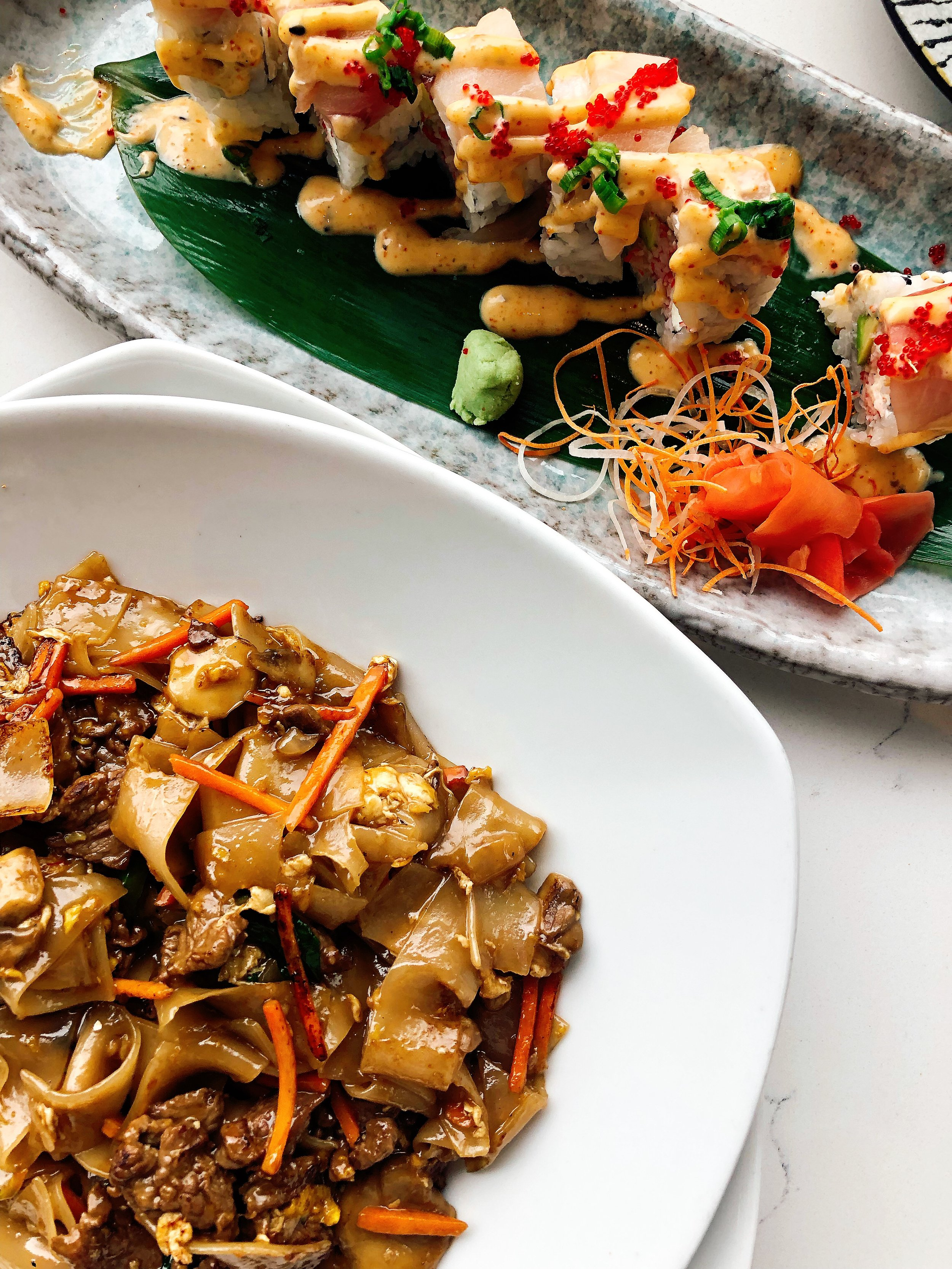 Lunches Call For Drunken Noodles And Sushi Rolls