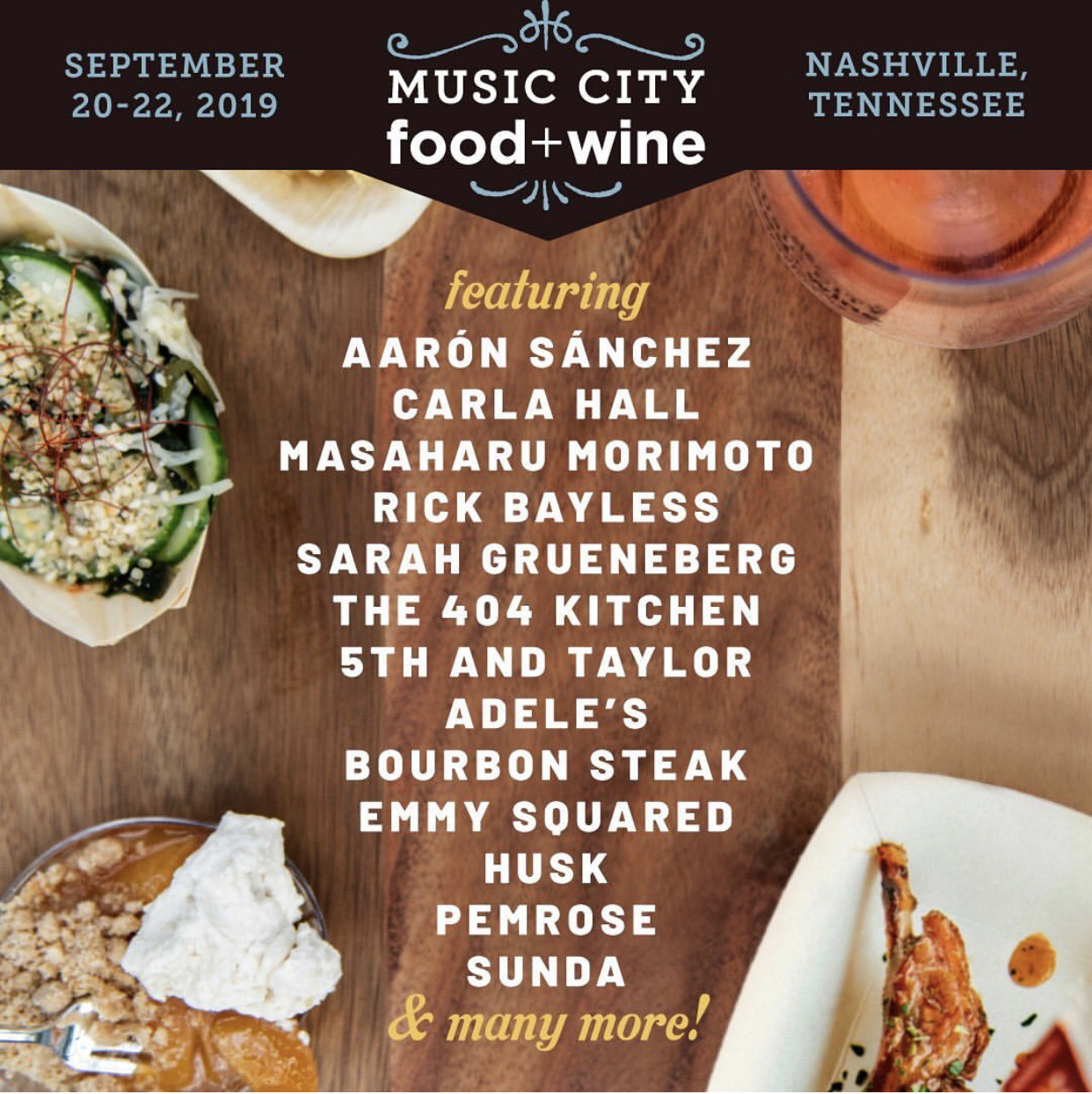 Image courtesy of Music City Food and Wine