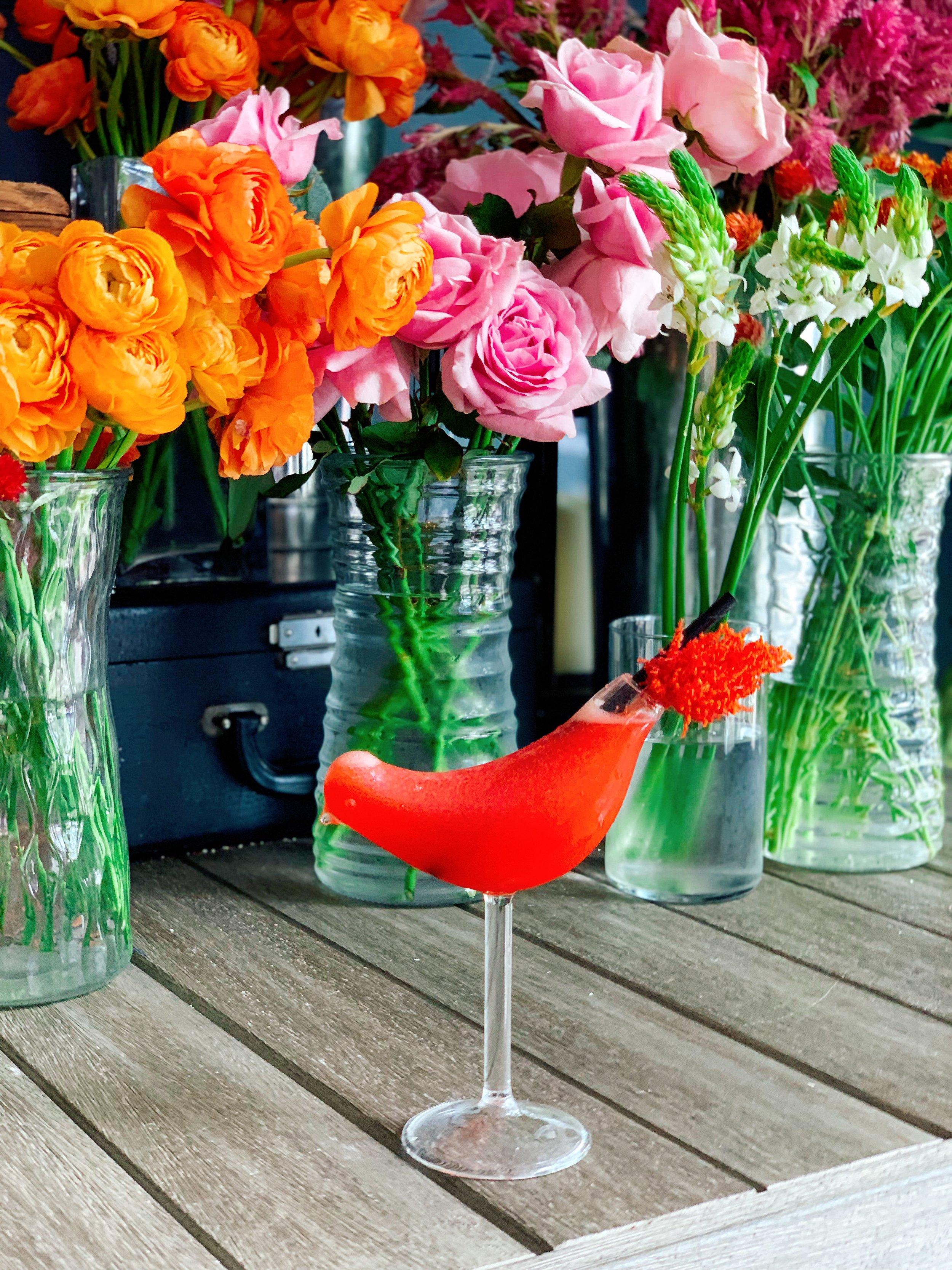 The Firebird | Rosé Vodka + Strawberry Purée + Lemon Agave Nectar