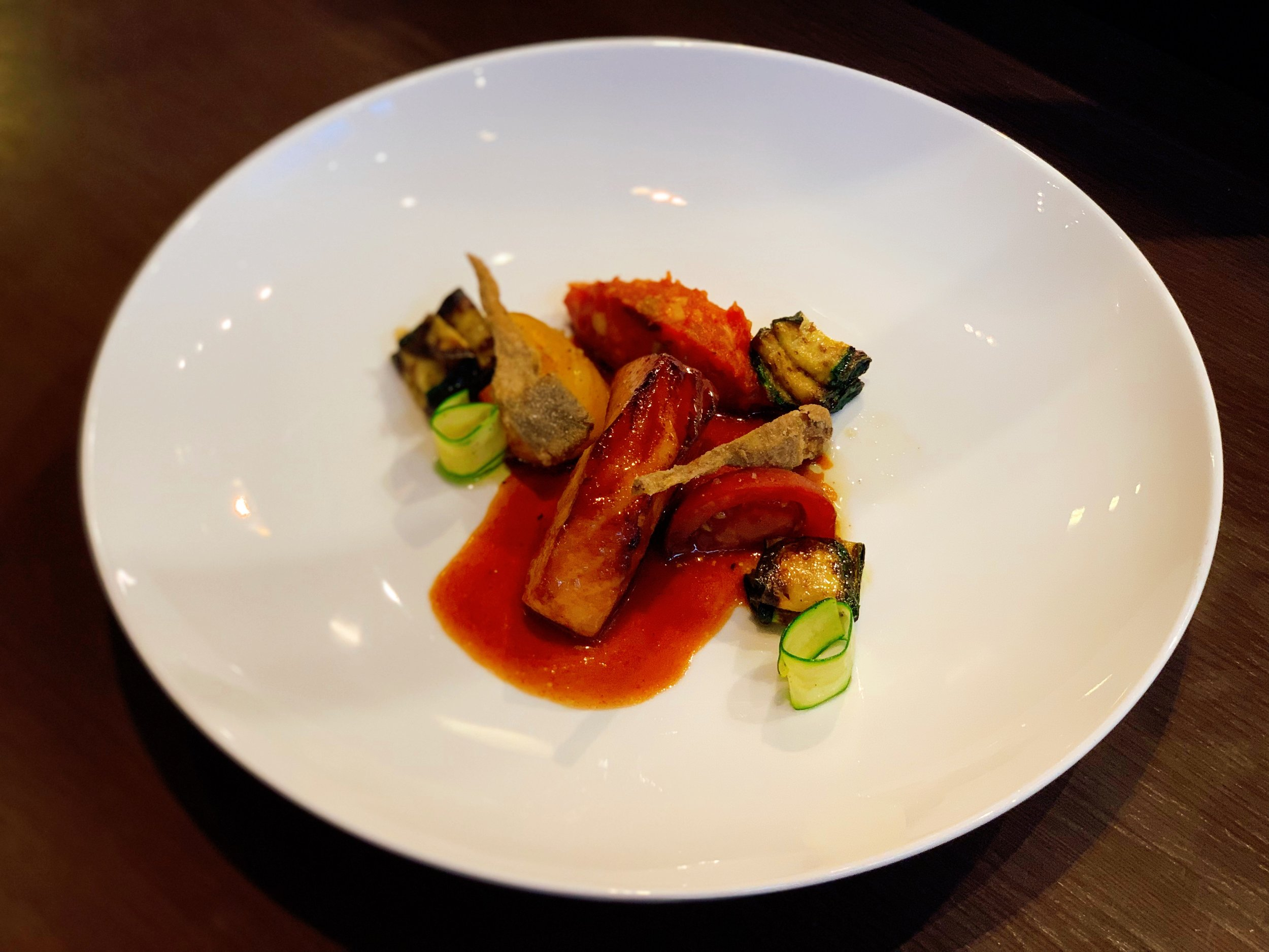 Black Cod And Miso + Artichoke + Polenta + Zucchini