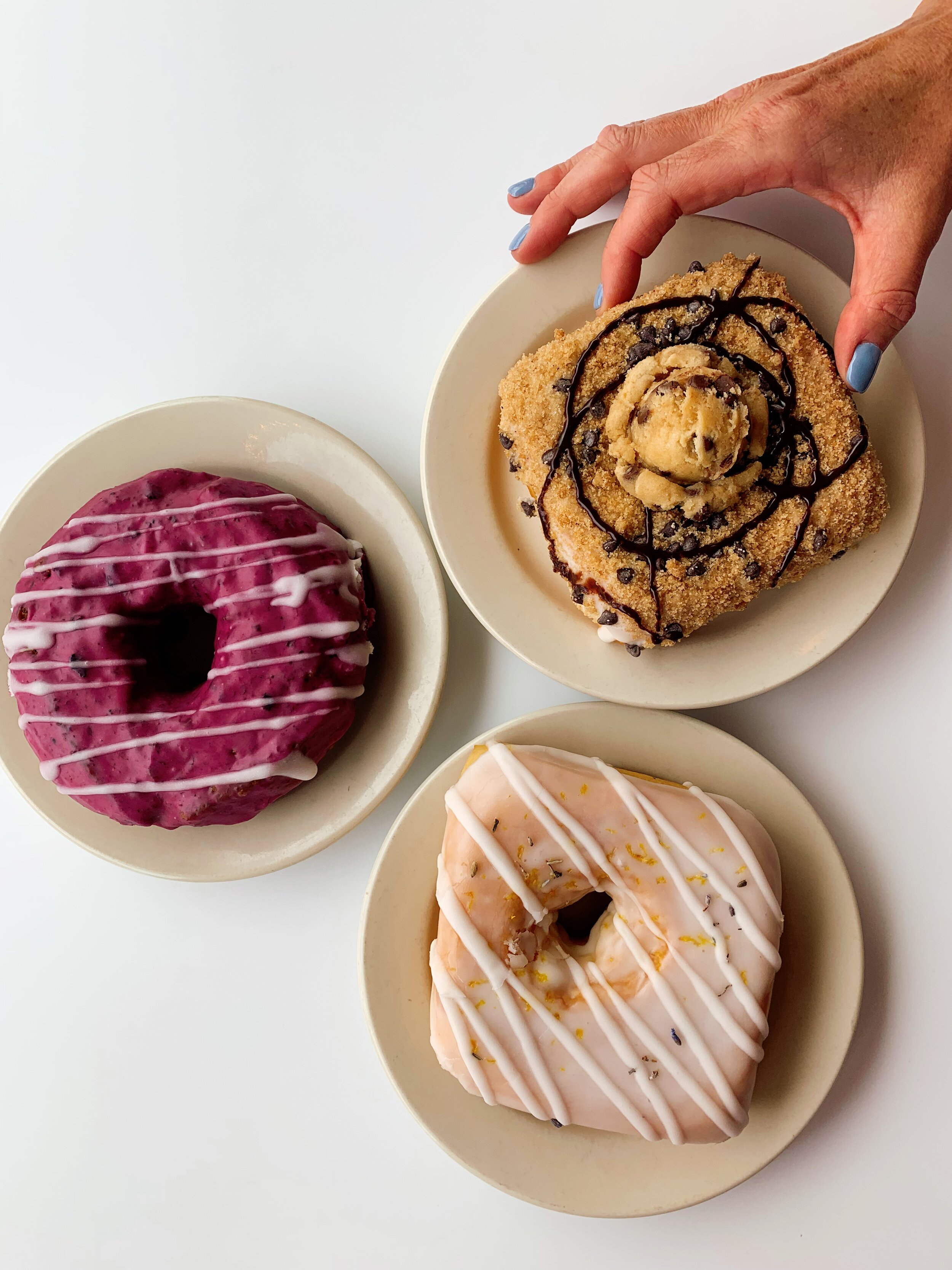 Vincent Van Doughnut | (From Left to Right): Blueberry | Chocolate Chip Cookie Dough | Lemon Lavender
