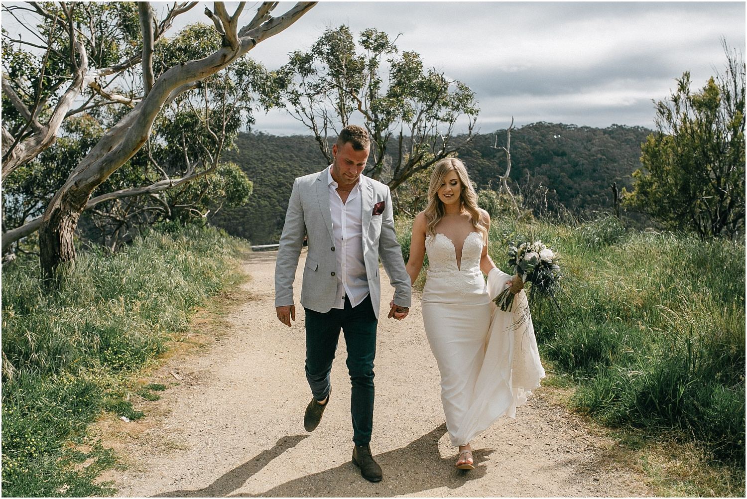 Renee and Ash's real elopement in Lorne on the Great Ocean Roadwith the ceremony at erskin falls._0061.jpg