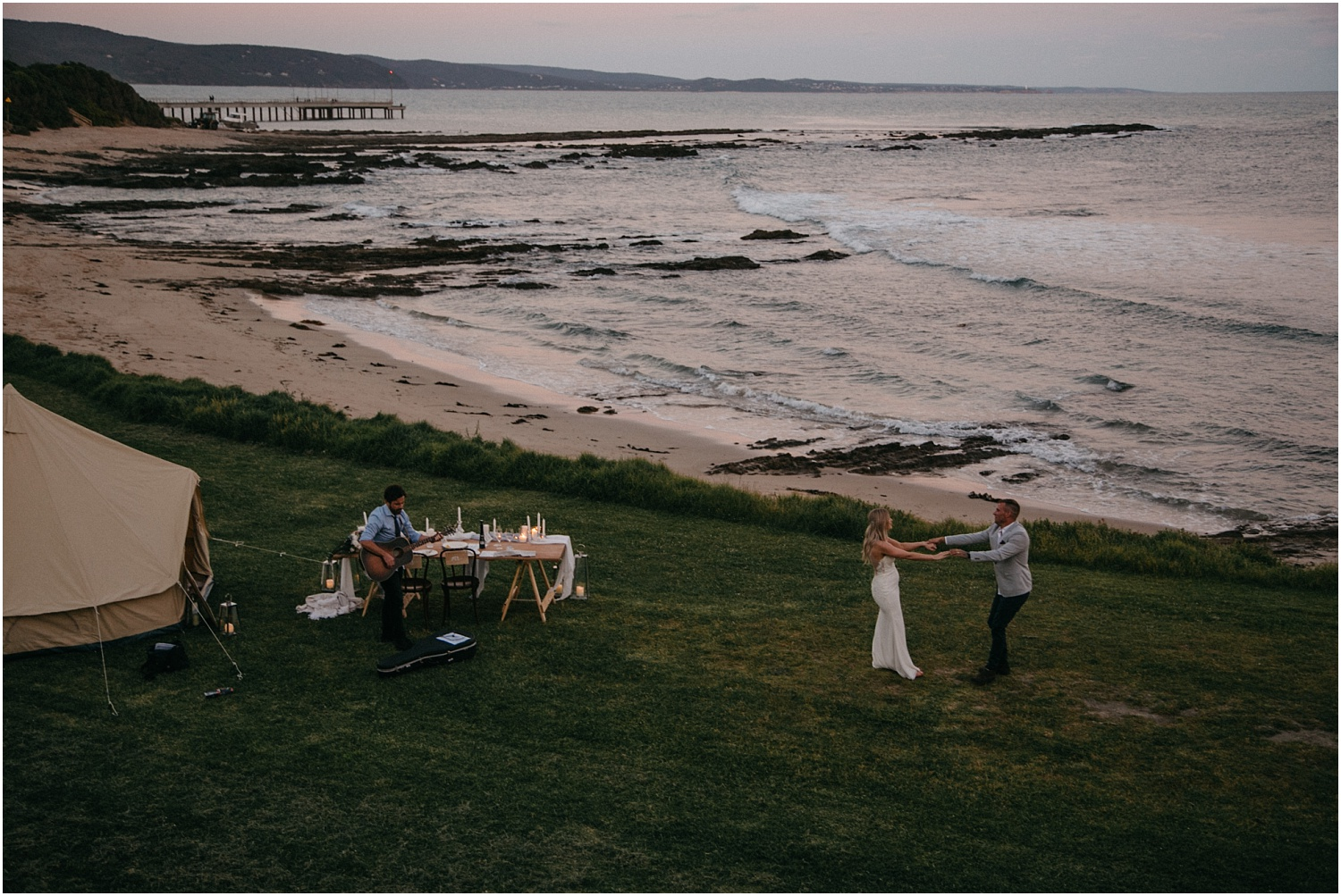 Renee and Ash's real elopement in Lorne on the Great Ocean Roadwith the ceremony at erskin falls._0128.jpg