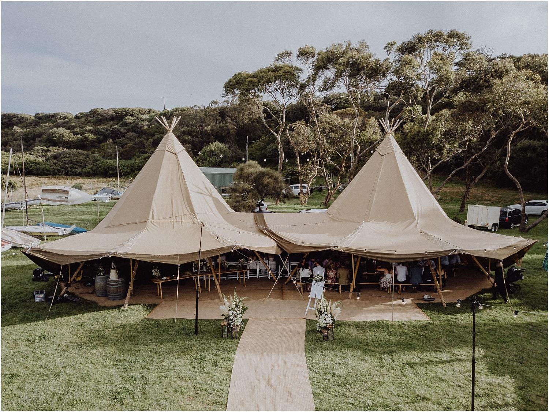 Nicolle and Damien's tipi wedding at the Flinders Yacht Club on the Mornington Peninsula._0147.jpg