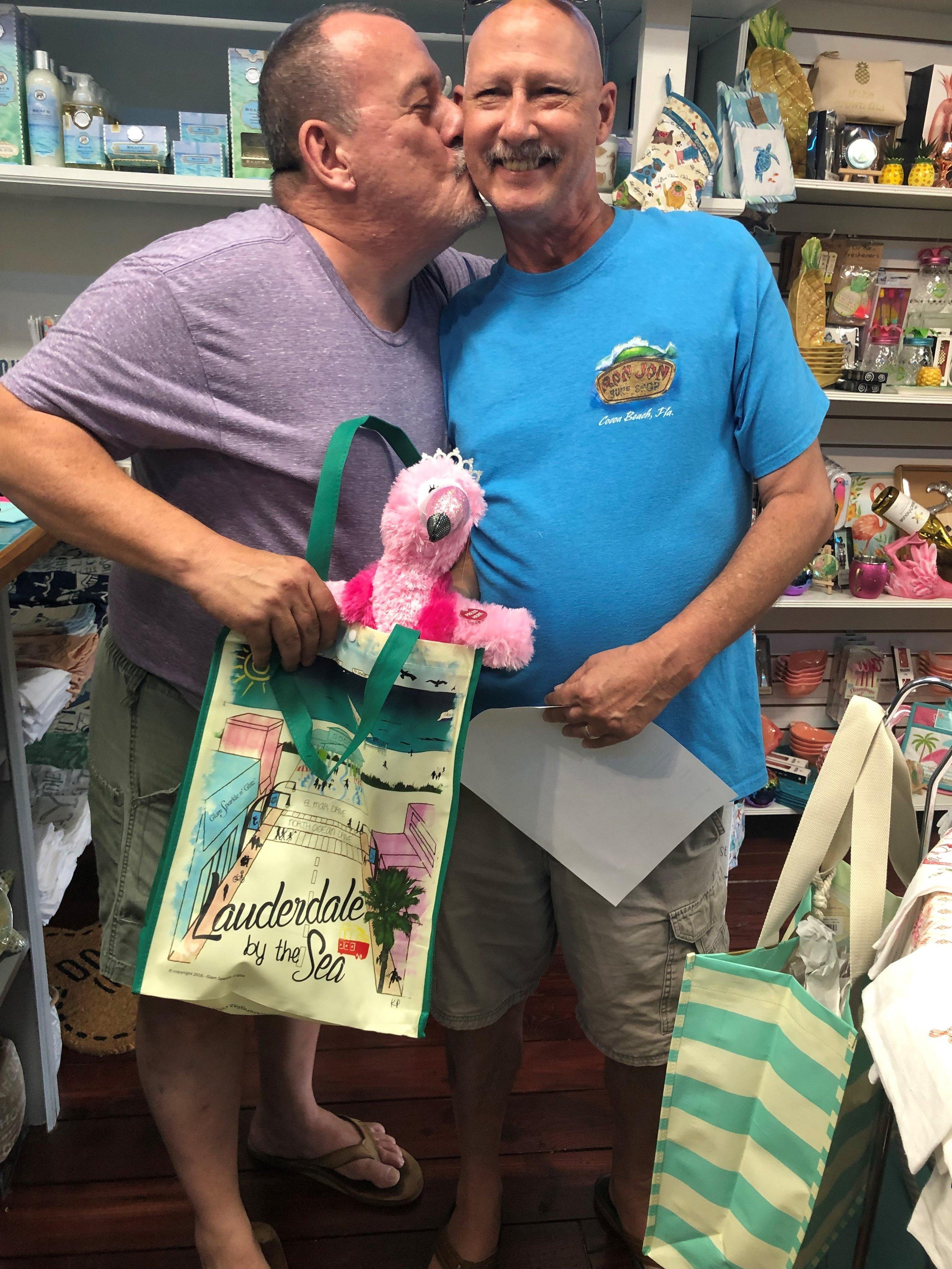 Paul & Terry drag queen flamingo.jpg