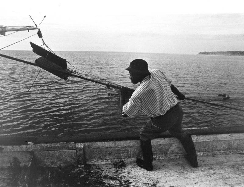 Jeanne Moutoussamy-Ashe,  Shrimper Pulling in His Line;  Image courtesy of the Columbia Museum of Art