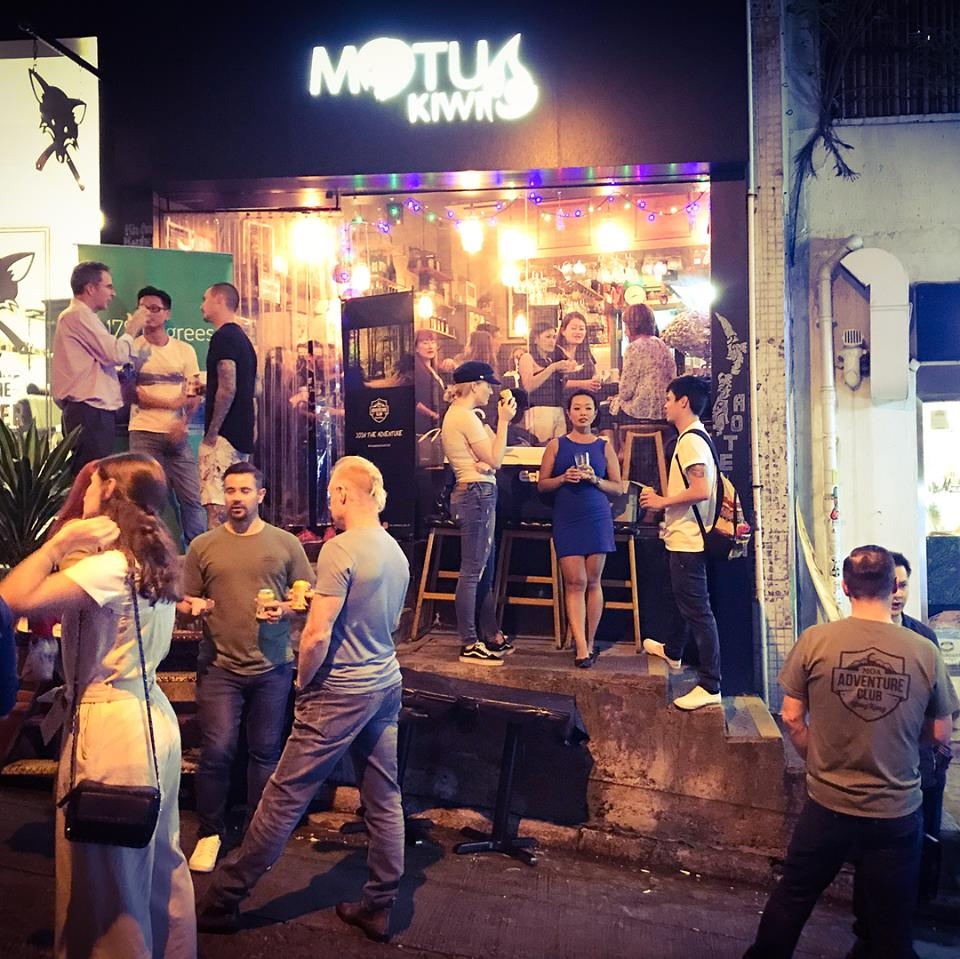 The Moa beer street party is well underway