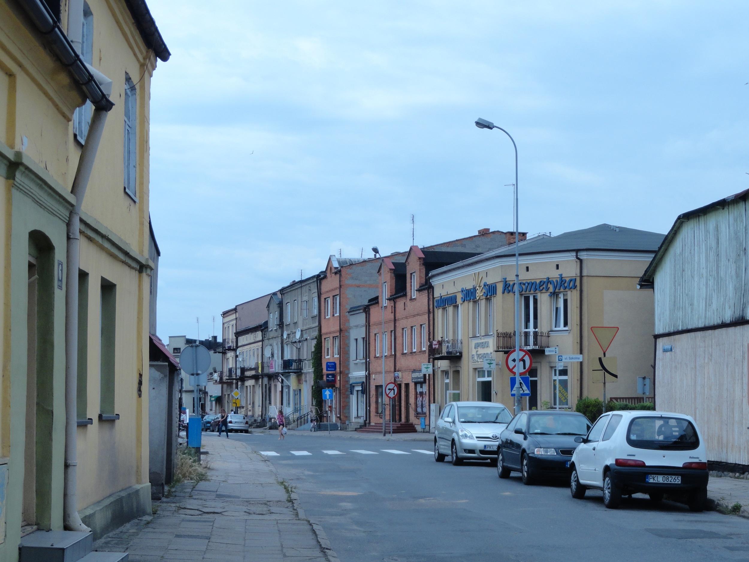 Street off of Kłodawa town square.