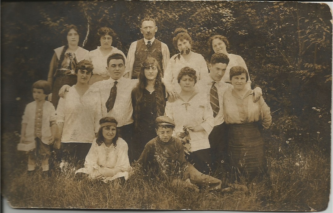 Morris Miller, top row, standing behind Mickey Miller.  Can anyone identify the others? About 1915.