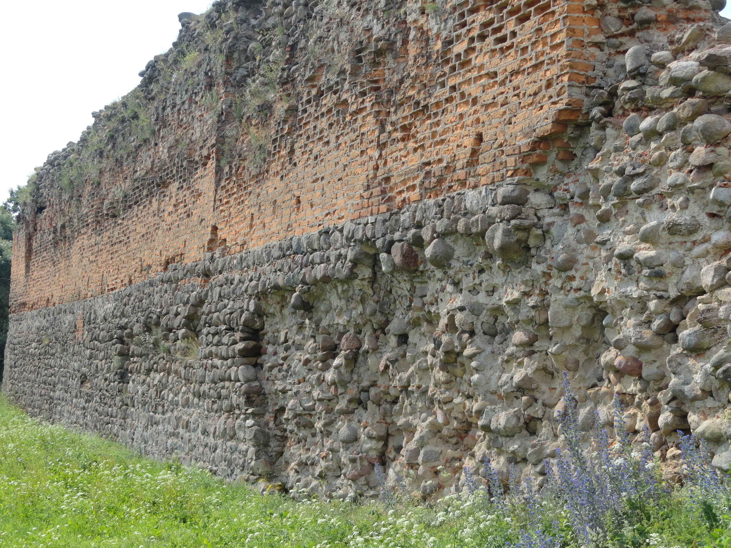 Kreva Castle wall.