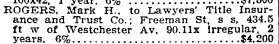 Copy of Freeman St forclosure, NYT 12 Aug 1908