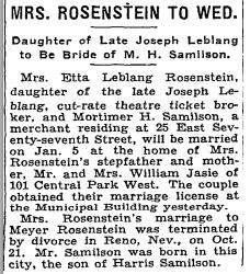 Copy of Mortimer Samilson, NYT 28 Dec 1933