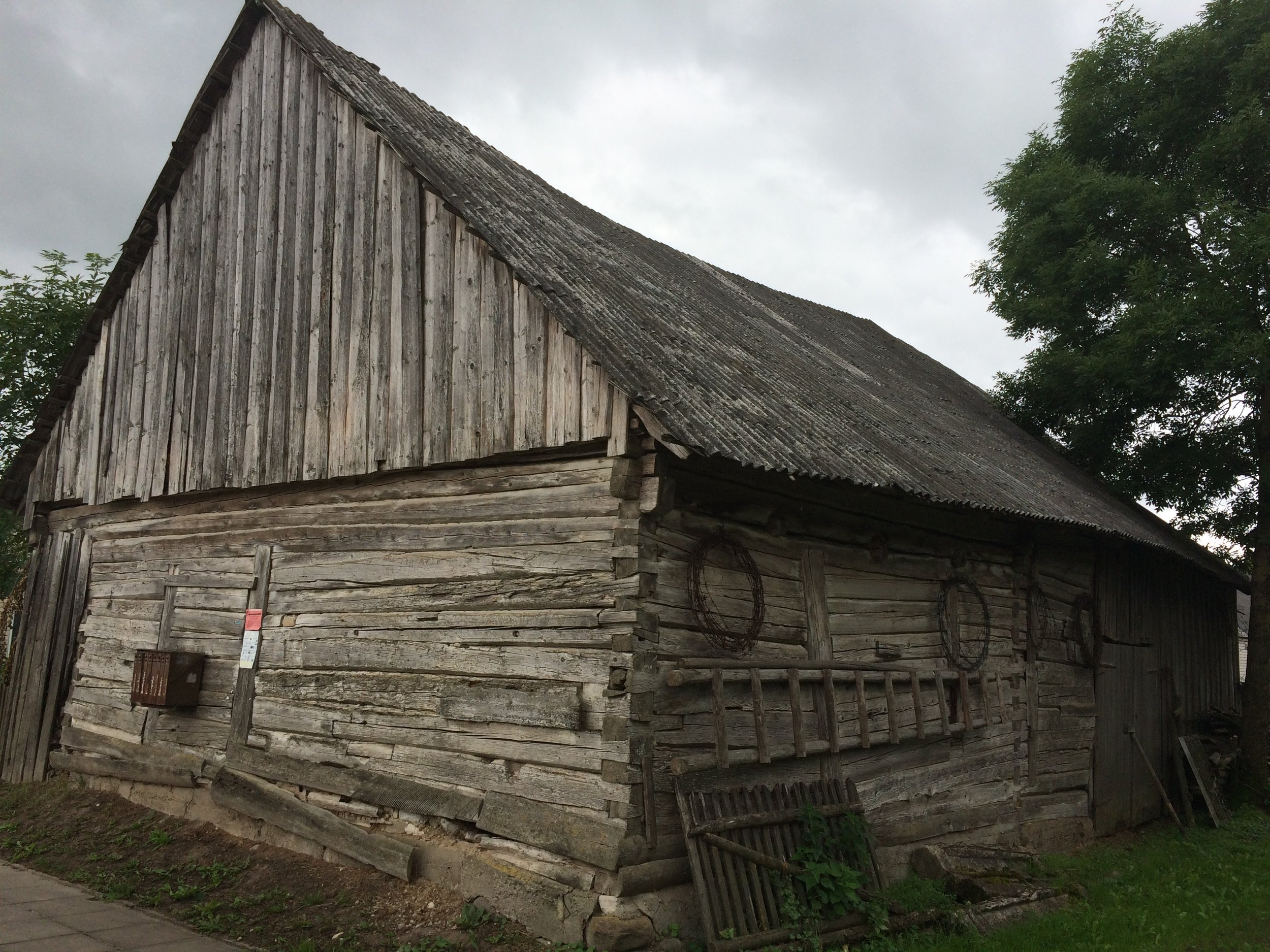 This old barn may have been here when my family lived in Batakiai.