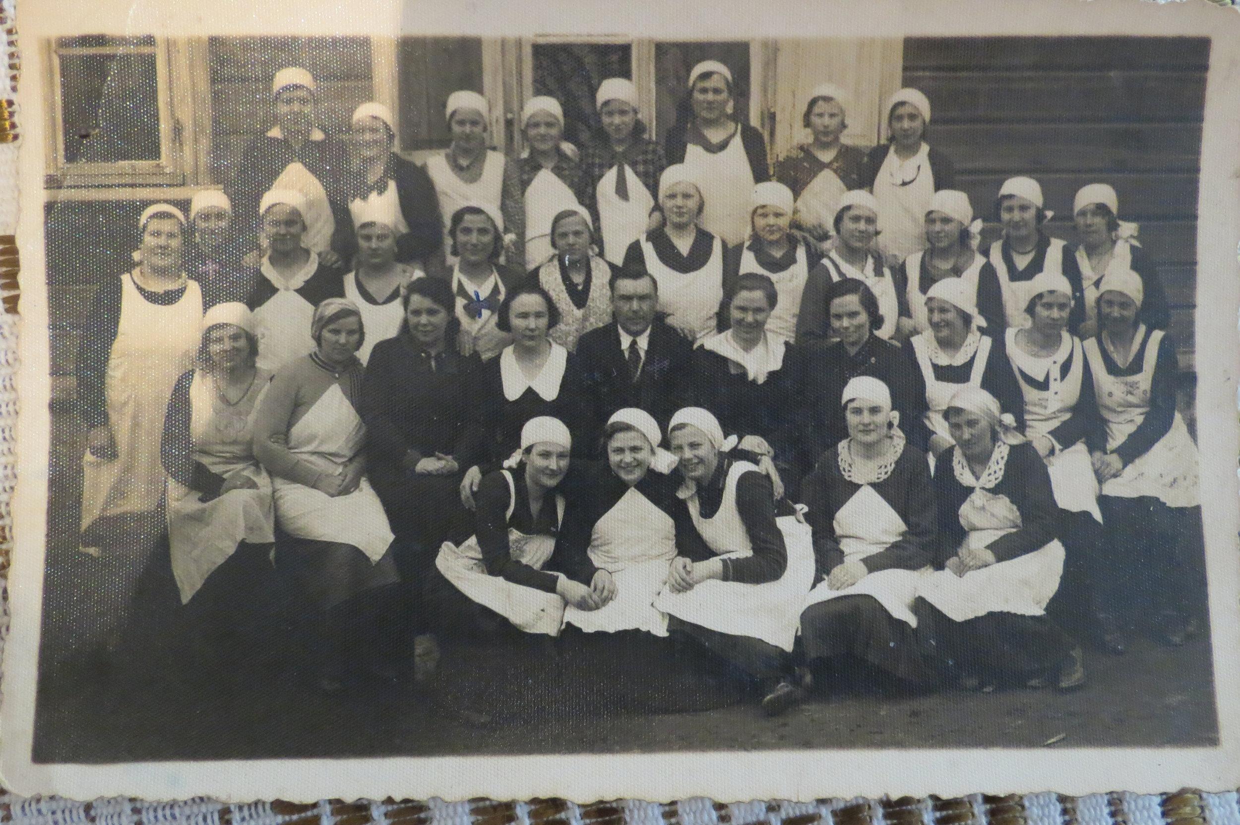 Cooking class in Batakiai, 1937. Photo courtesy of  Egidijus Gaidauskas.