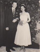 Bob and Nancy (Nan) Jean Kolb at their wedding in 1953