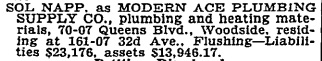 Bankruptcy notice, New York Times, 1941