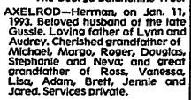 Axelrod, Herman obit NYT 13 Jan 1993.jpg