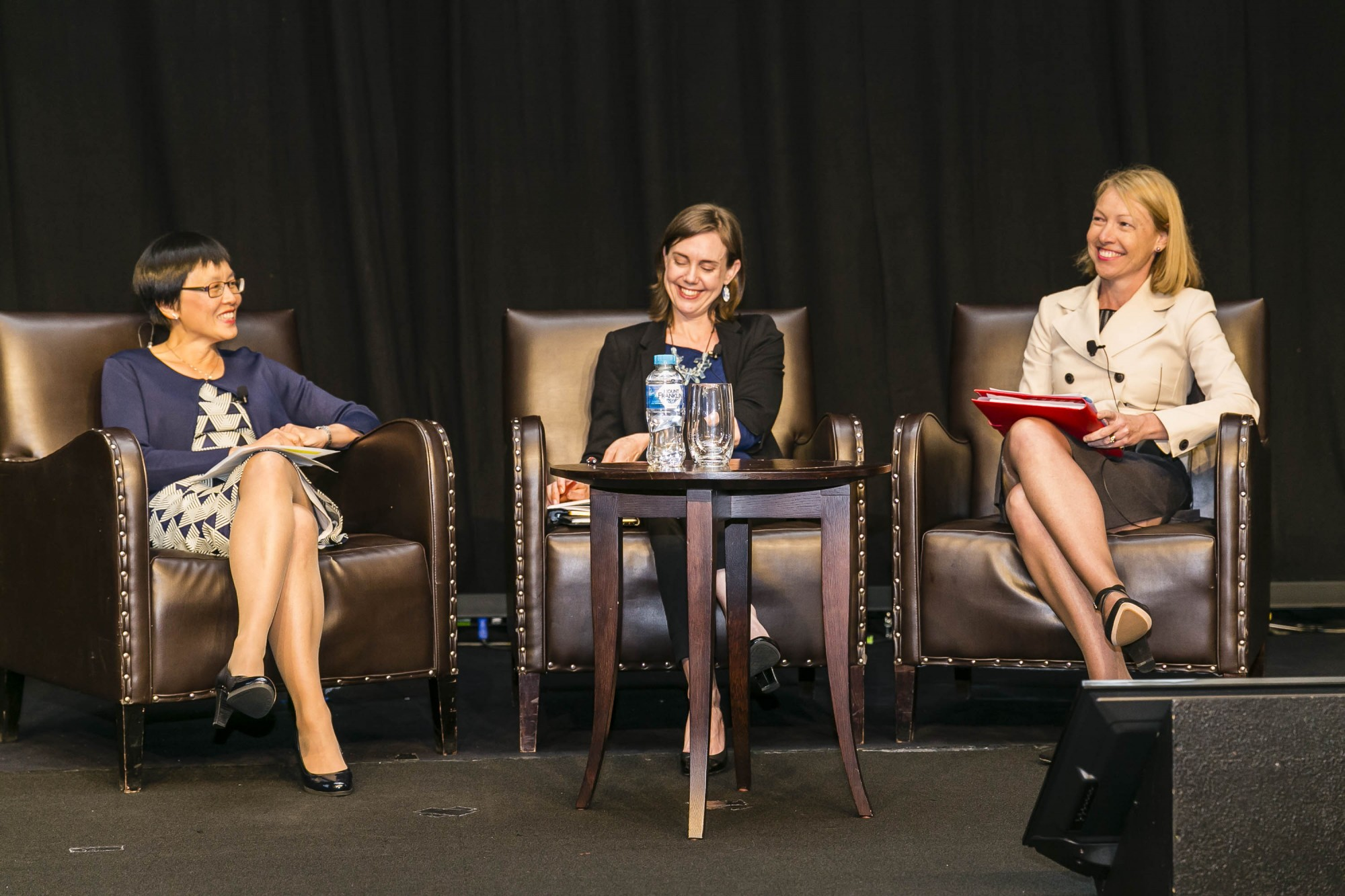 Dr Katie Spearritt (at right). Photo: Actuaries Institute (National Conference).