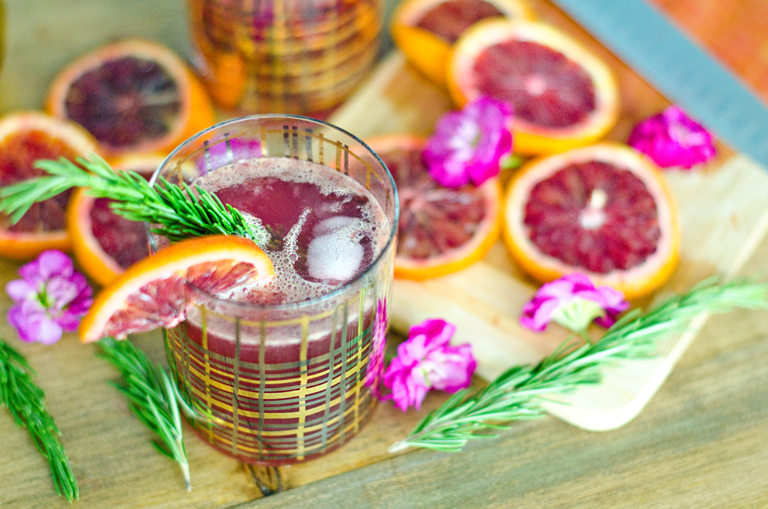 Blood Orange Gin & Tonic, Photographed by Charuk Studios