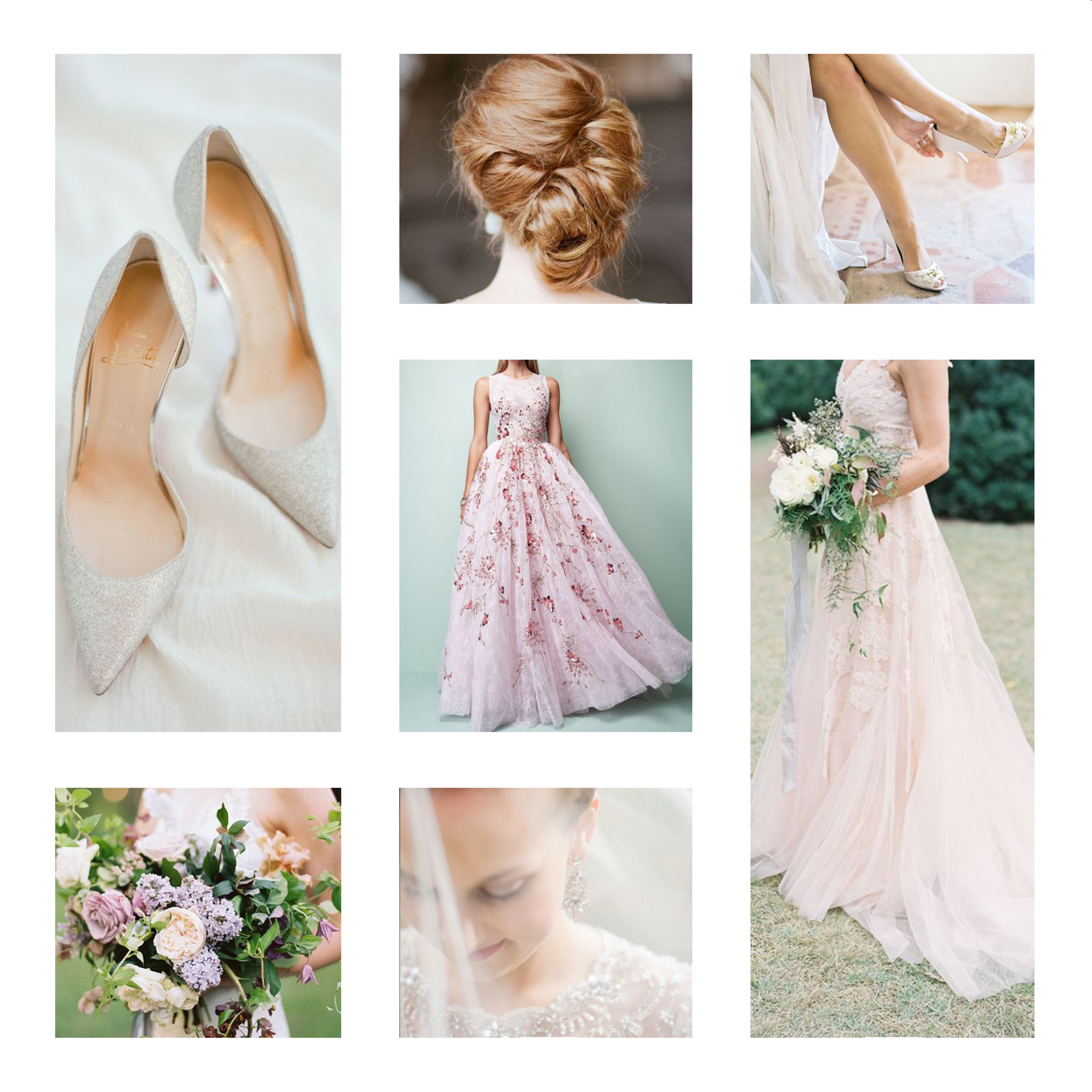 Final images selected for the photo shoot direction and designed into an inspiration board.