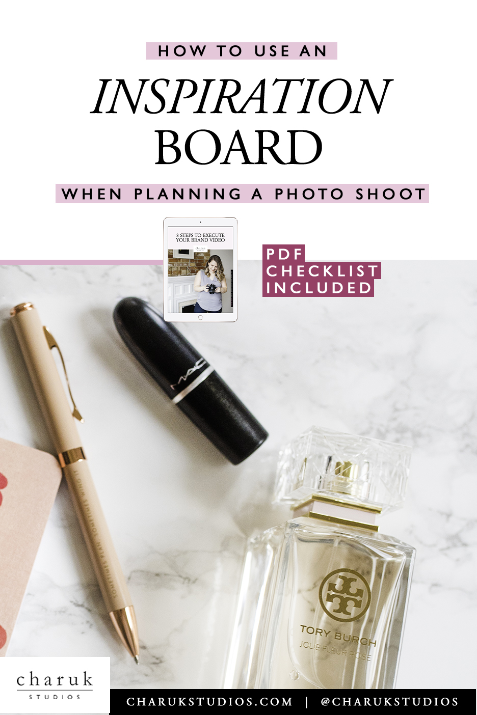 How to use an inspiration board when planning a photo shoot by Charuk Studios