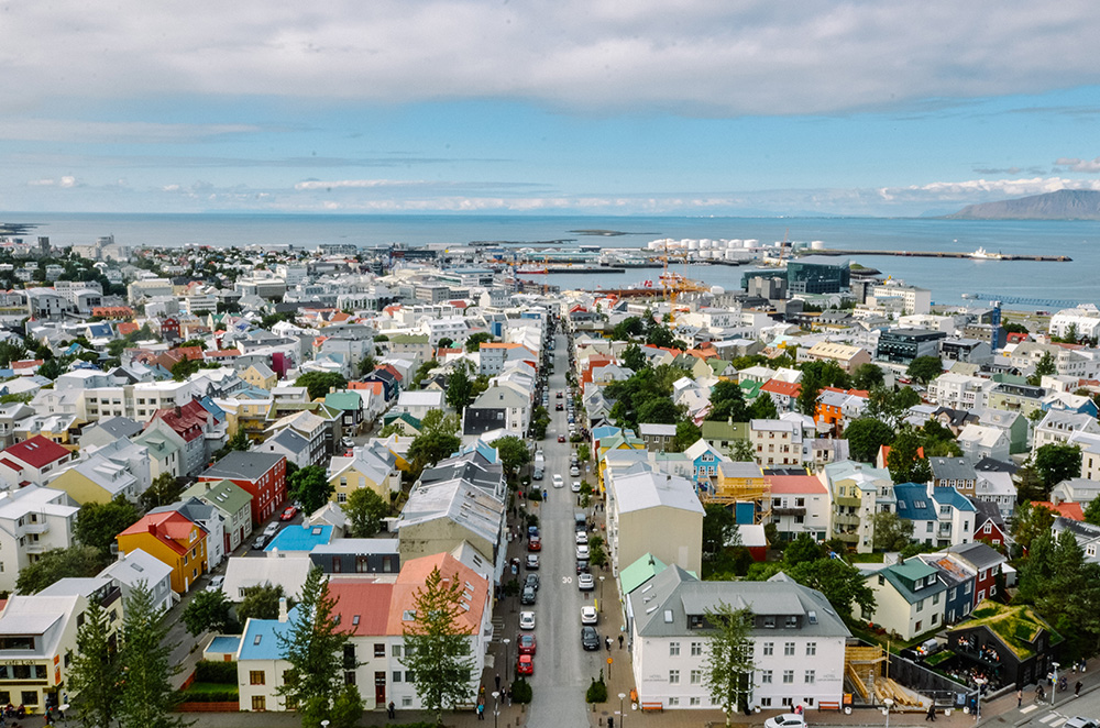 View from the top of Hallgrímskirkja church
