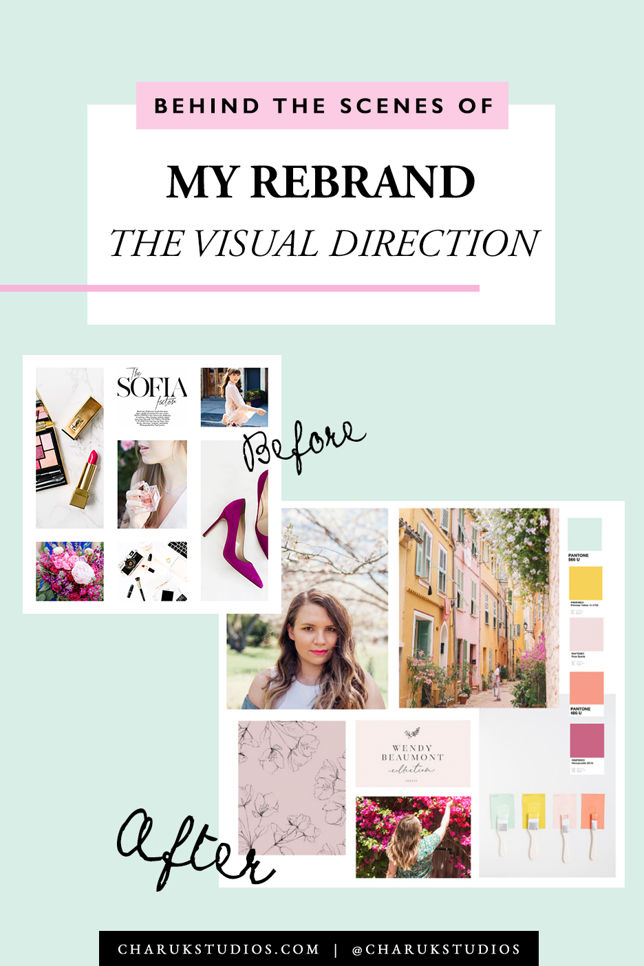 Behind the Scenes of My Rebrand: The Visual Direction by Charuk Studios