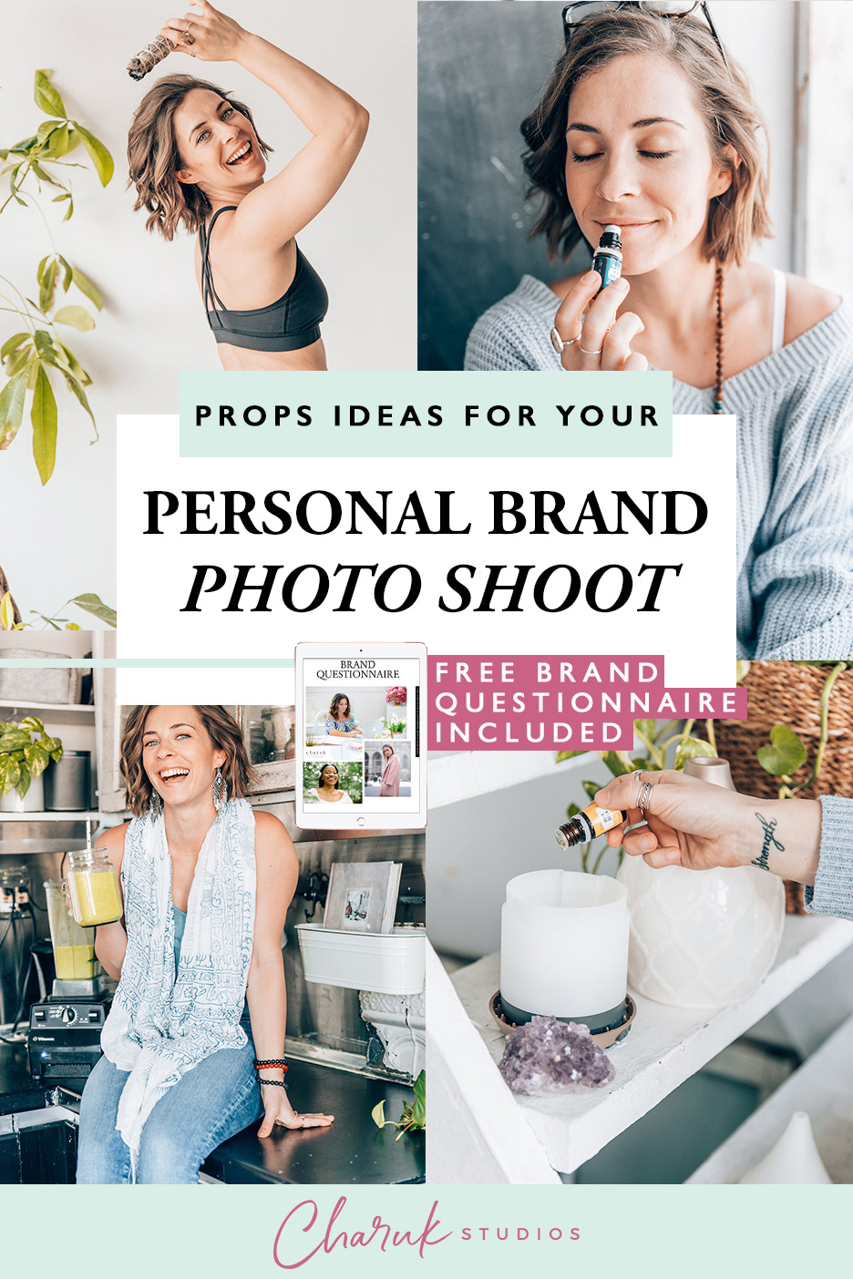 Prop Ideas for Your Personal Brand Photo Shoot by Charuk Studios