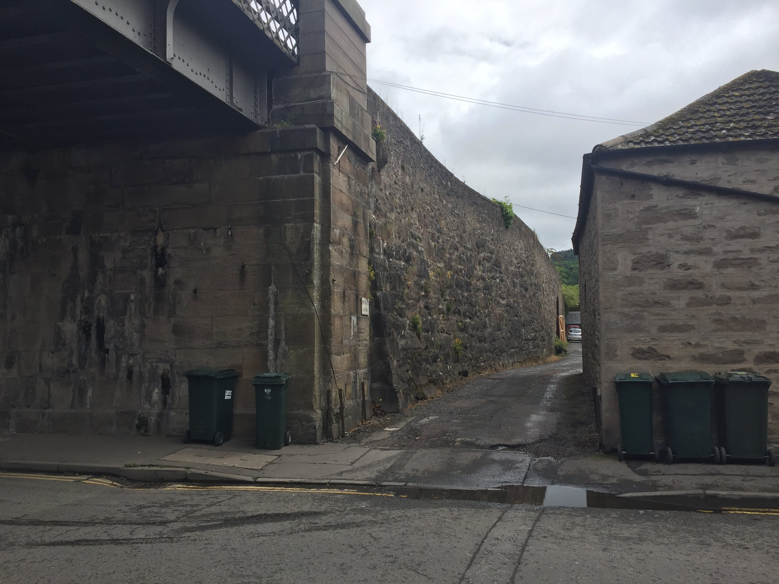 Entrance to Marshall Mews from Nelson Street