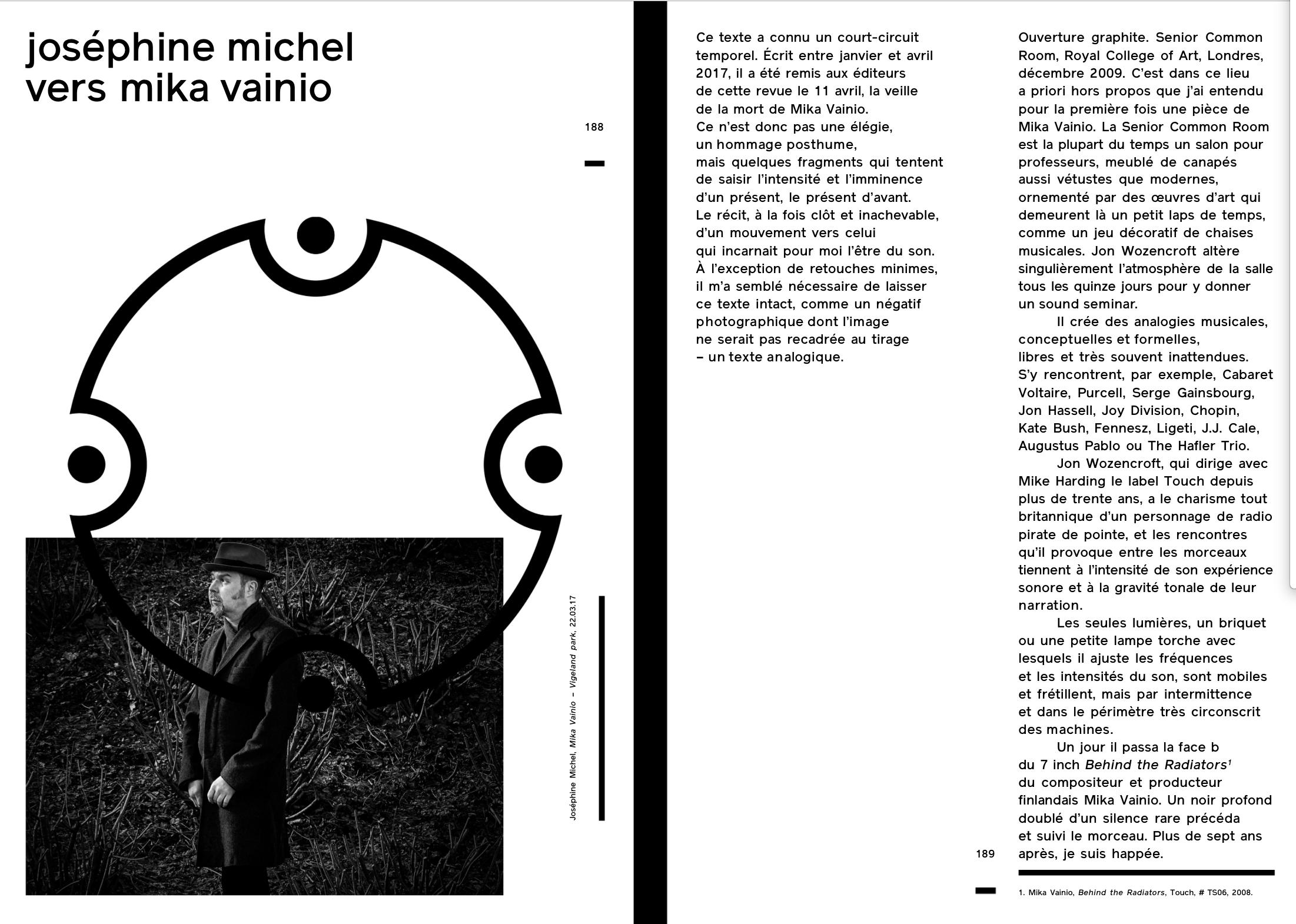 OPTICALSOUND NUMÉRO CINQ    COLLECTIF ART & MUSIQUE AUTOMNE 2017.    VERSION PAPIER ISBN 979-10-96749-05-8  WWW.OPTICAL-SOUND.COM