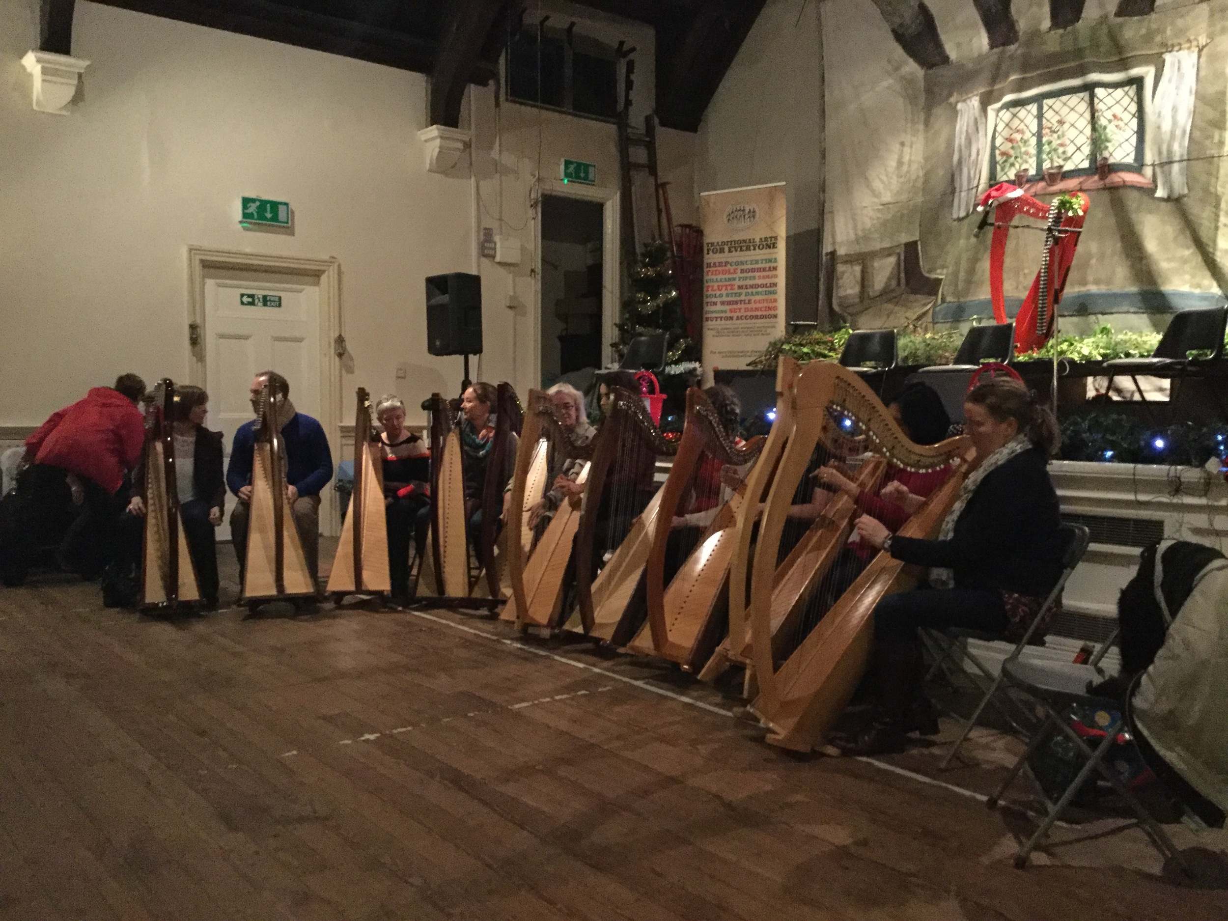Harp Classes Performing at our Christmas Céilí