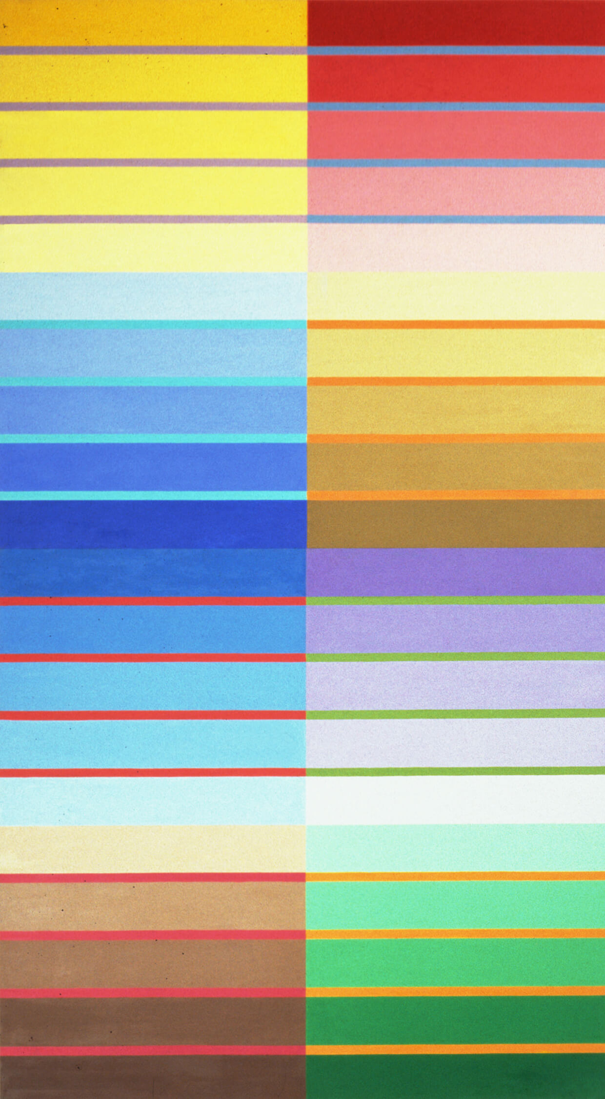 No title. Oil tempera on aluminum sheets, 234 x 132 cm, 2002