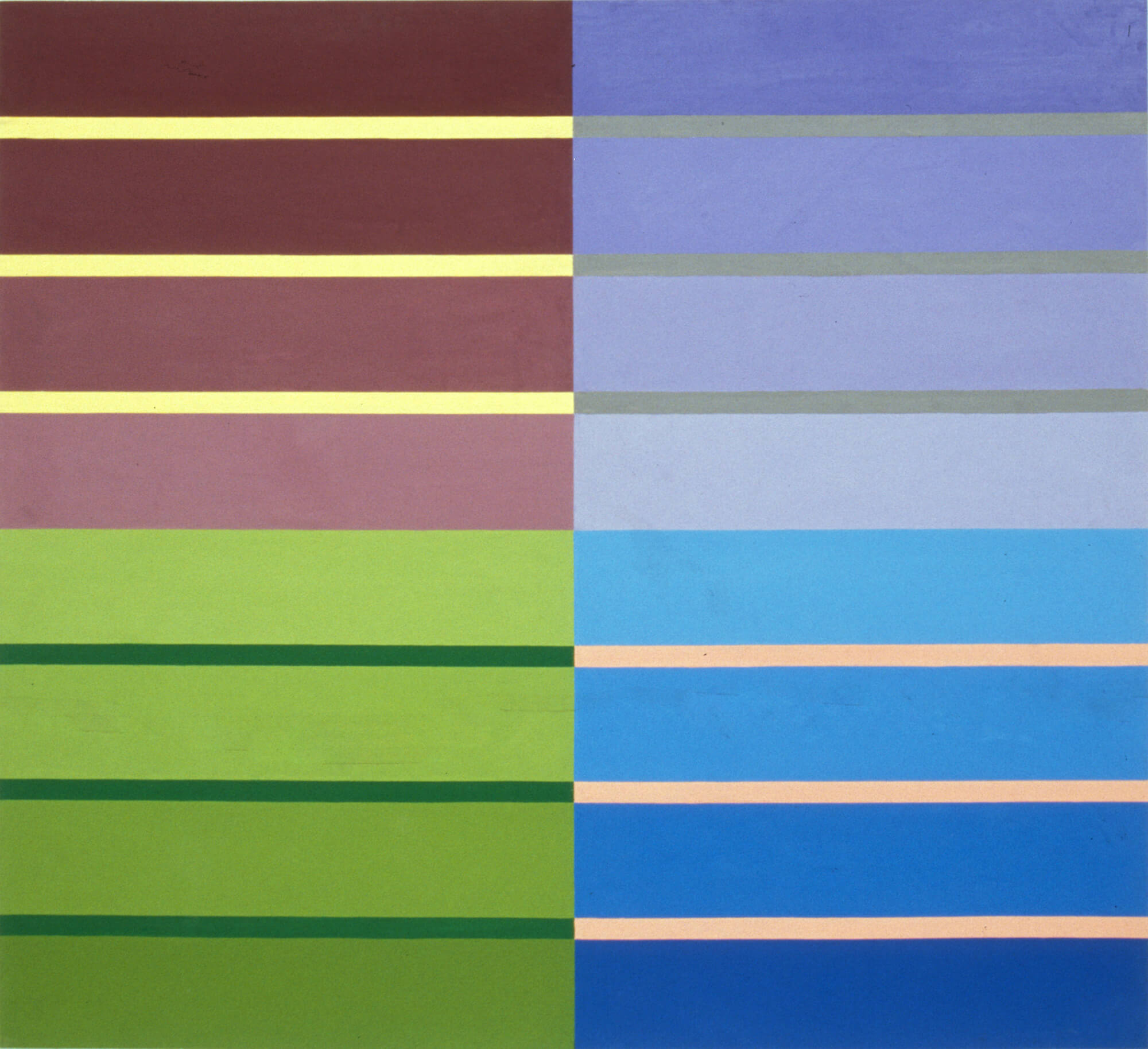 Linda Linda Vista, 122 x 132 cm. Oil tempera on aluminum sheet, 2002