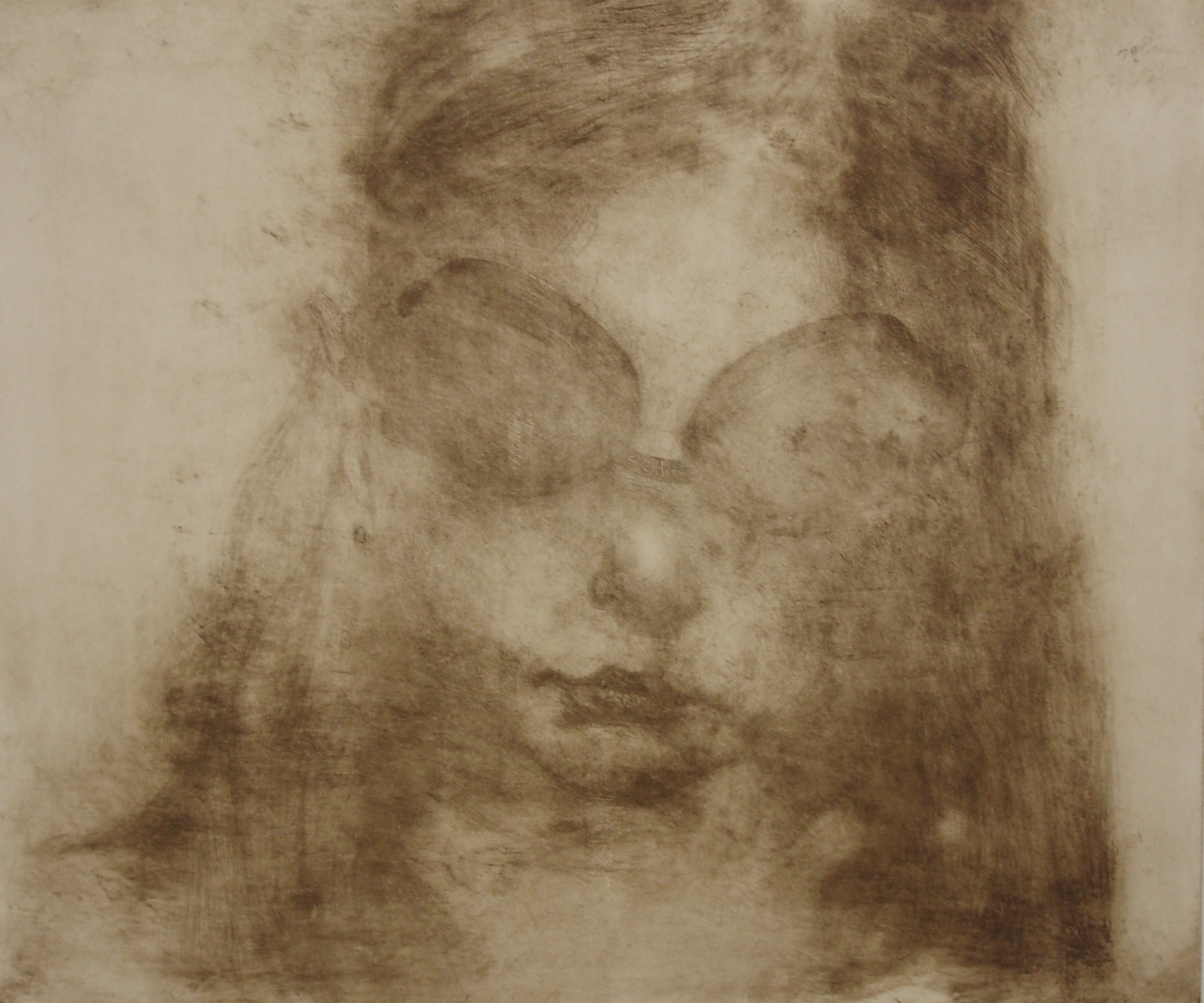 'Daughter' Etching 50x 40cm  edition sold