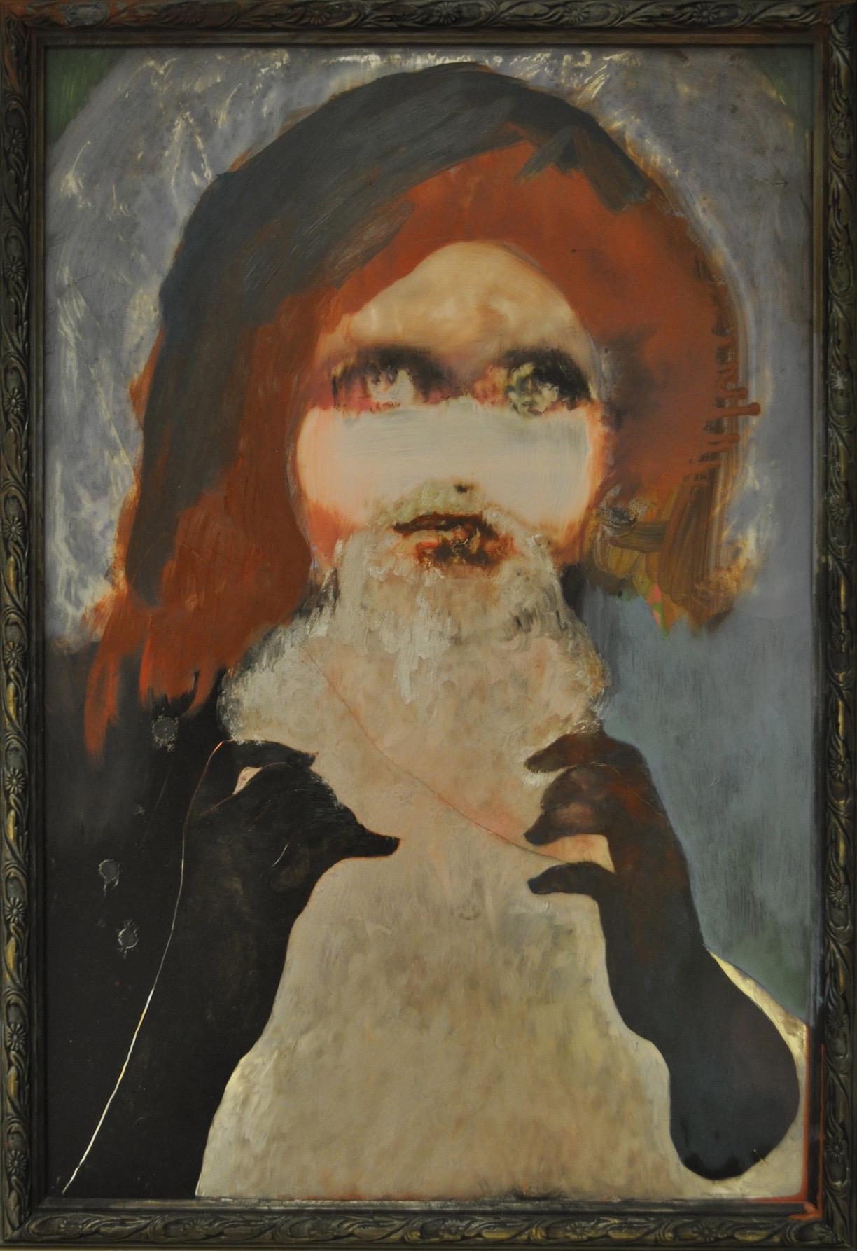 10 Ancestor' oil on mirror  approx 70x 50cm.jpg