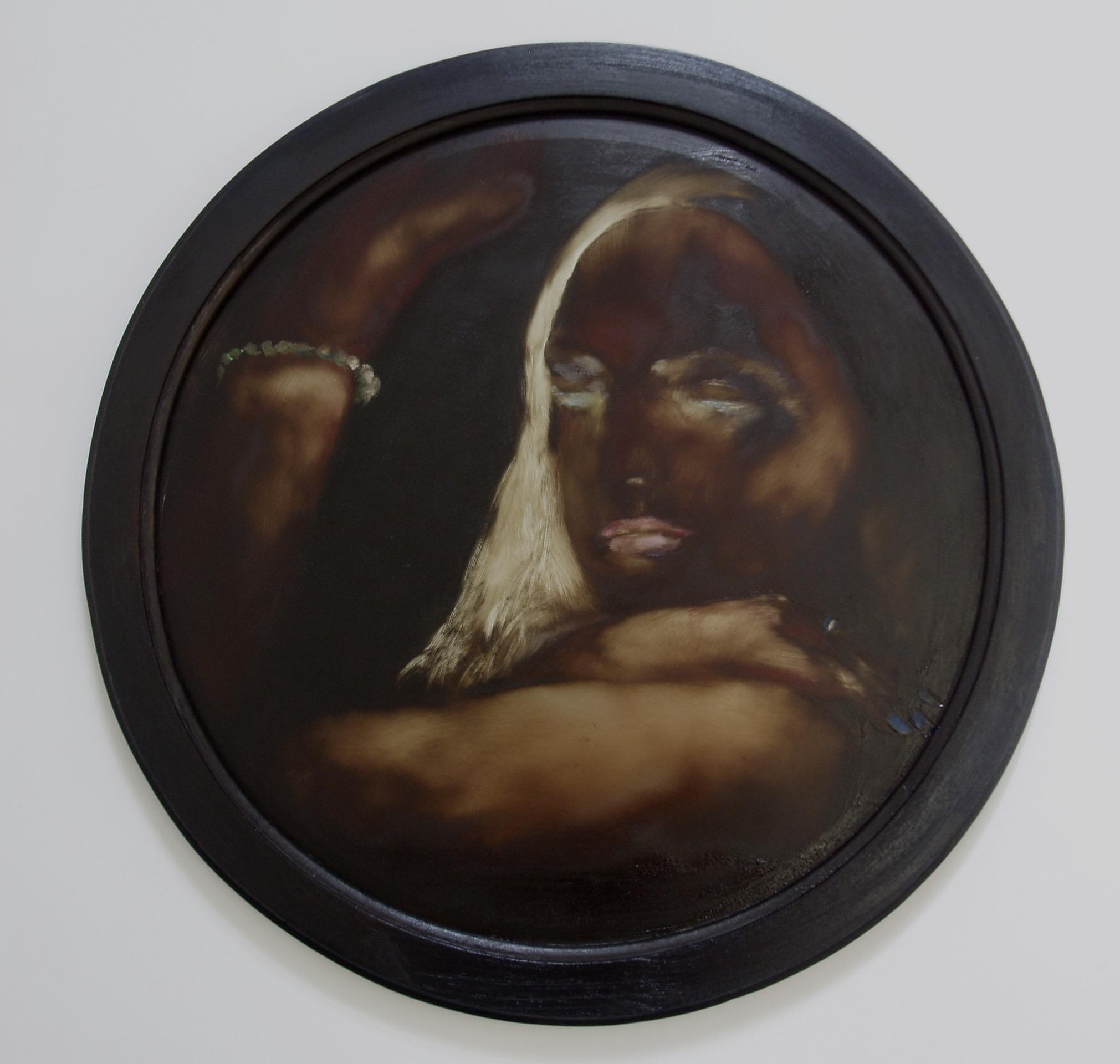 12 votary' oil on mirror £ 2,200 Jesse L smith diametr 50cm.jpg