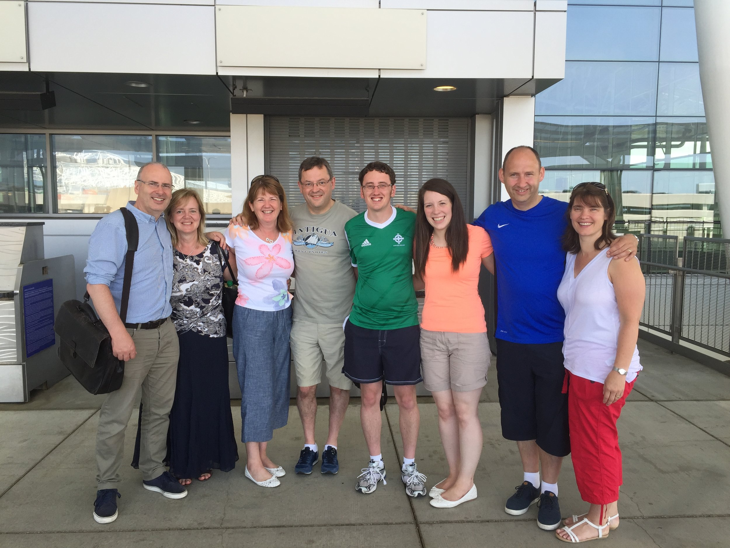 Some of the Scottish contingent at the airport on the way home