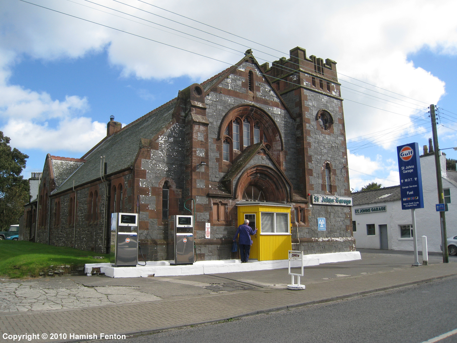 The former United Presbyterian Church in Whithorn - now a car garage