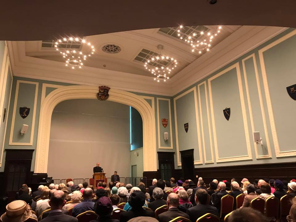 Kenneth Stewart (Glasgow RPCS) preaching at the ordination in Stornoway Town Hall last night